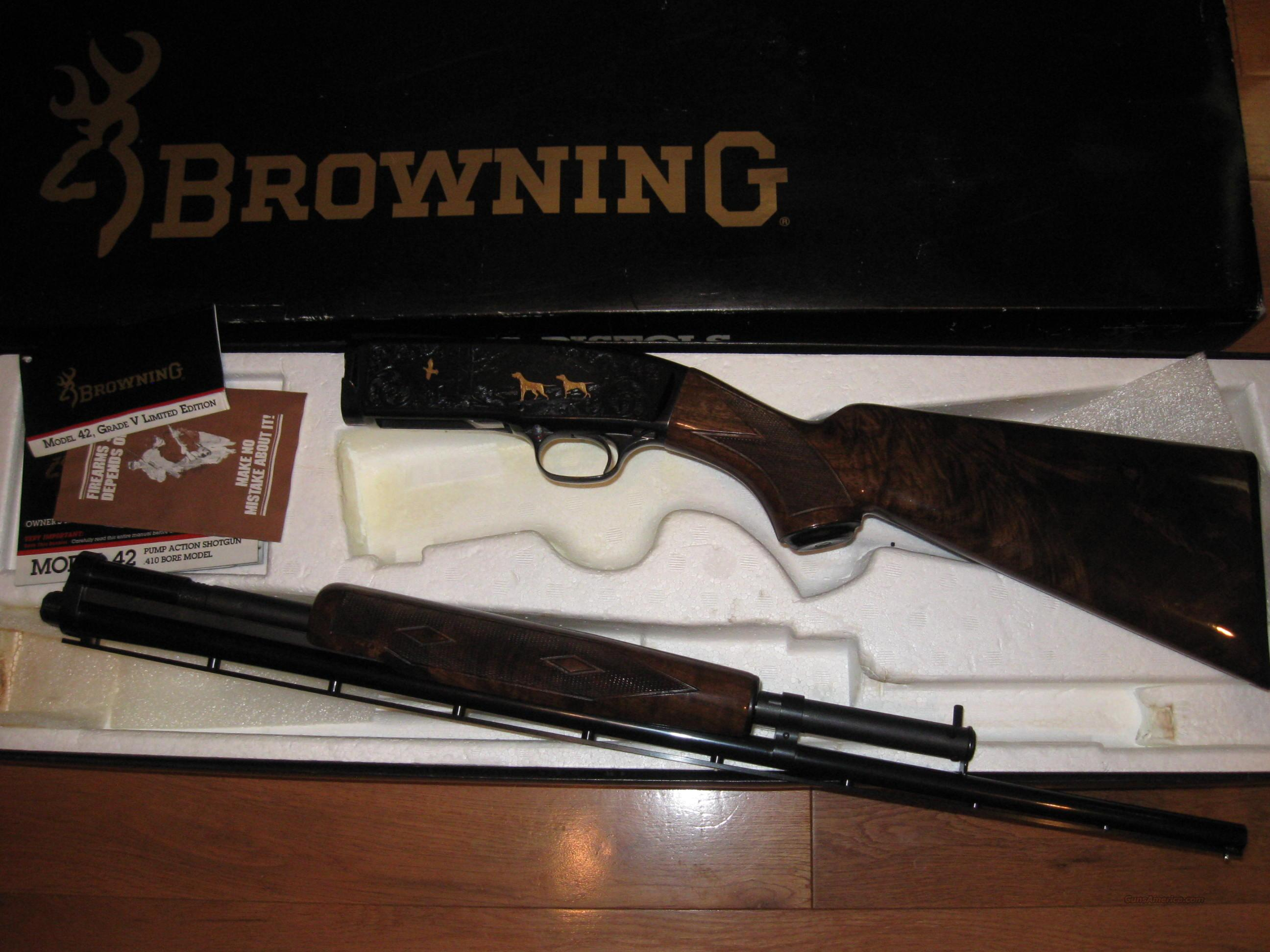 Browning M-42 Grade 5  Guns > Shotguns > Browning Shotguns > Pump Action > Hunting