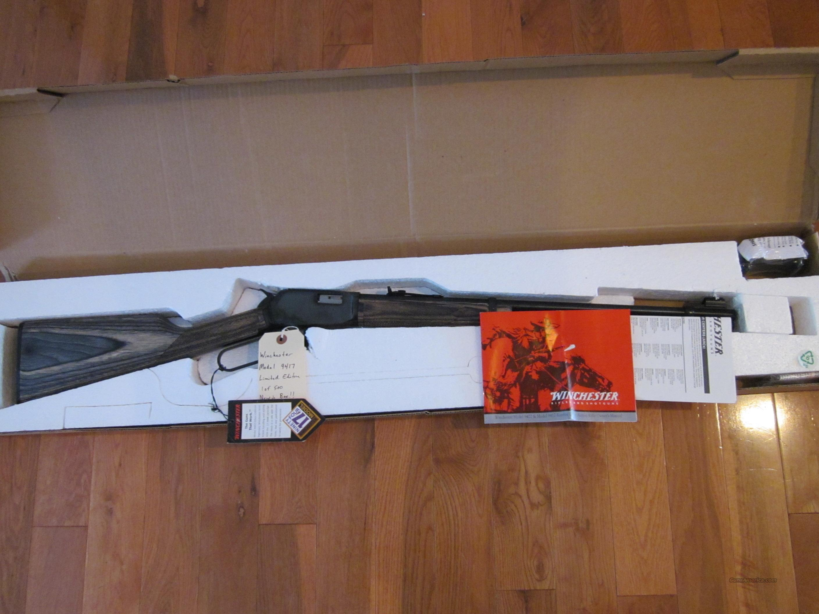 Winchester 9417 Limited  Guns > Rifles > Winchester Rifles - Modern Lever > Model 94 > Post-64