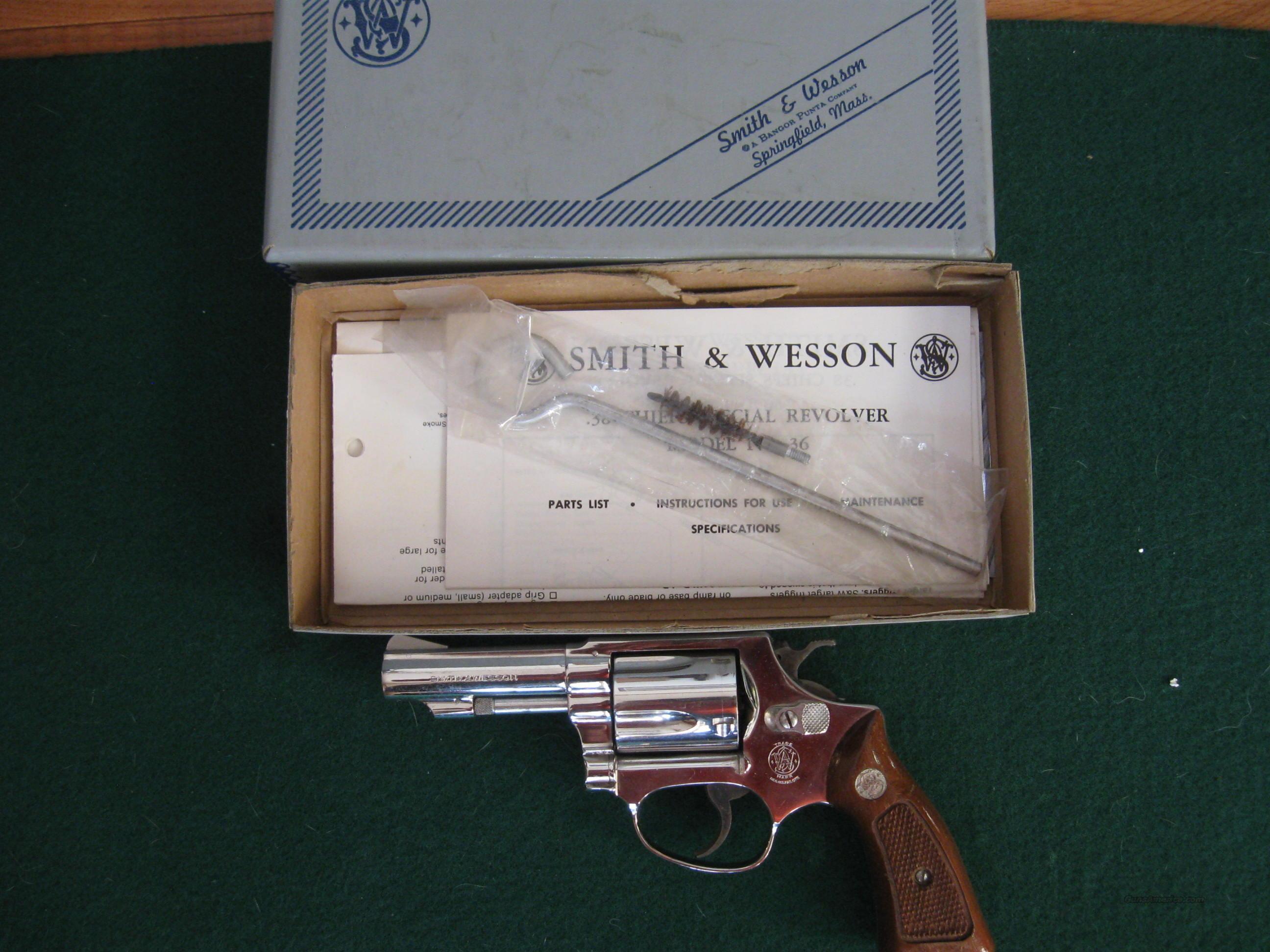 Smith & Wesson 36-1  Guns > Pistols > Smith & Wesson Revolvers > Pocket Pistols
