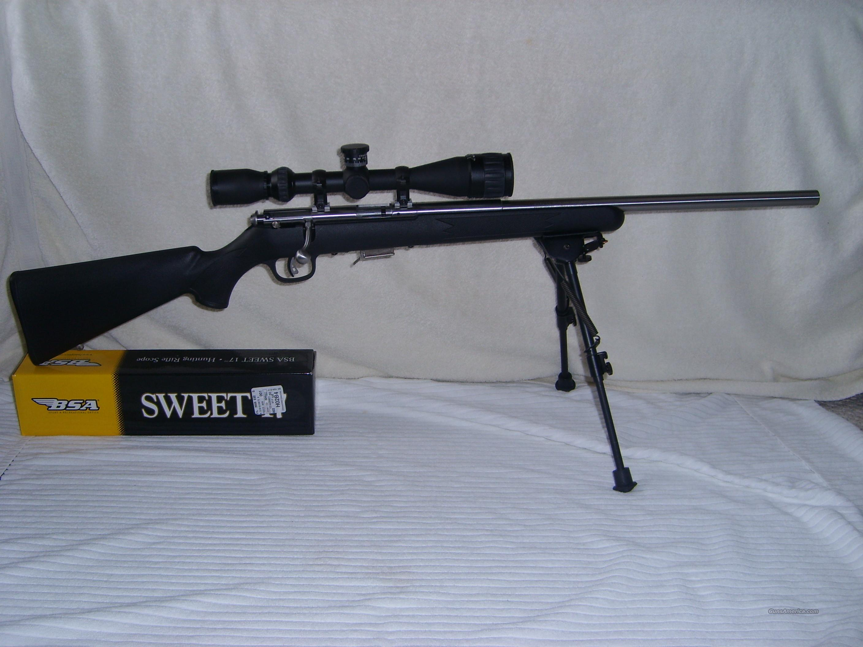 Savage Model 93R17-FVSS .17 HMR    Guns > Rifles > Savage Rifles > Accutrigger Models > Sporting