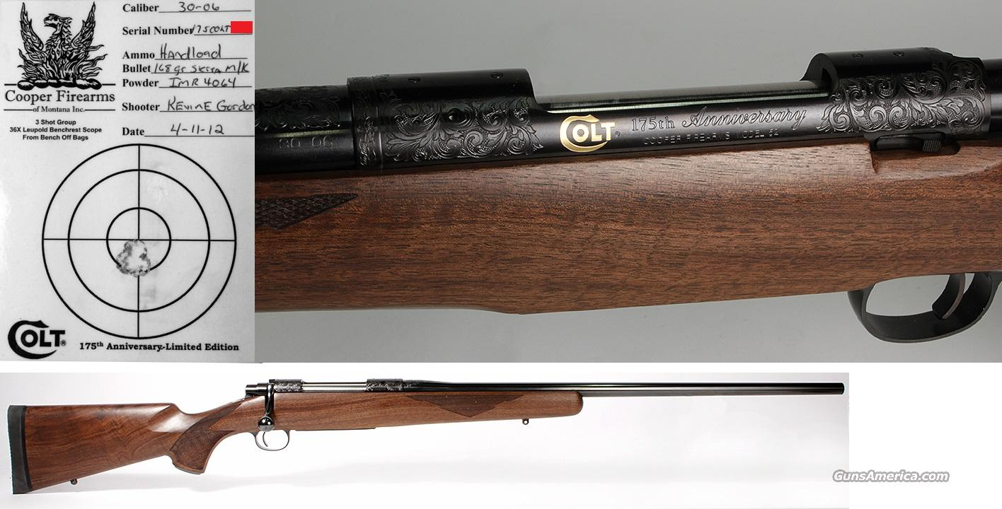 Cooper 52 Colt 175th Anniversary One of 175 NIB Engraved with Gold Inlays M52  Guns > Rifles > Cooper Arms Rifles