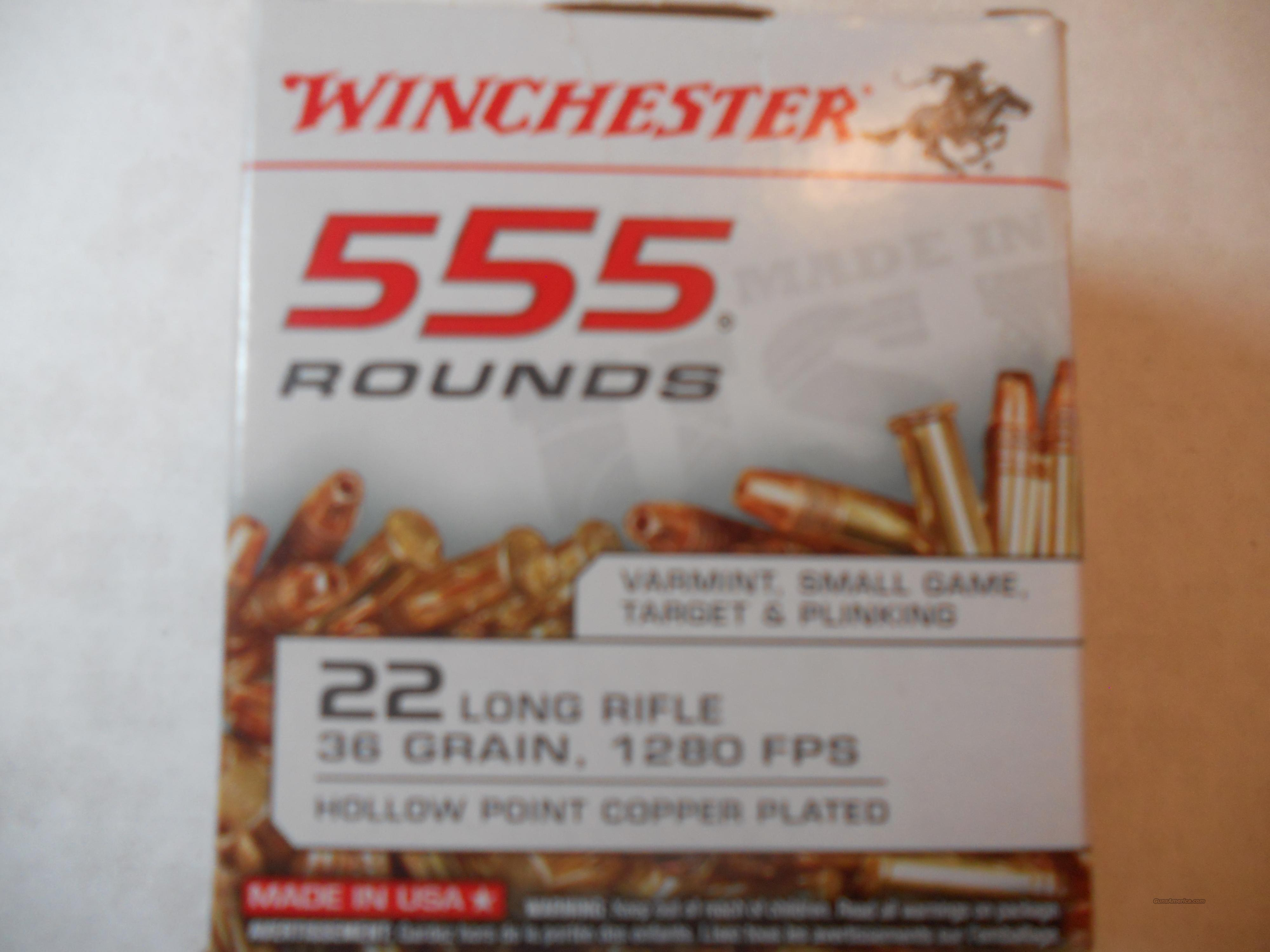 winchester 555 rounds 22 lr Hollow point  Non-Guns > Ammunition