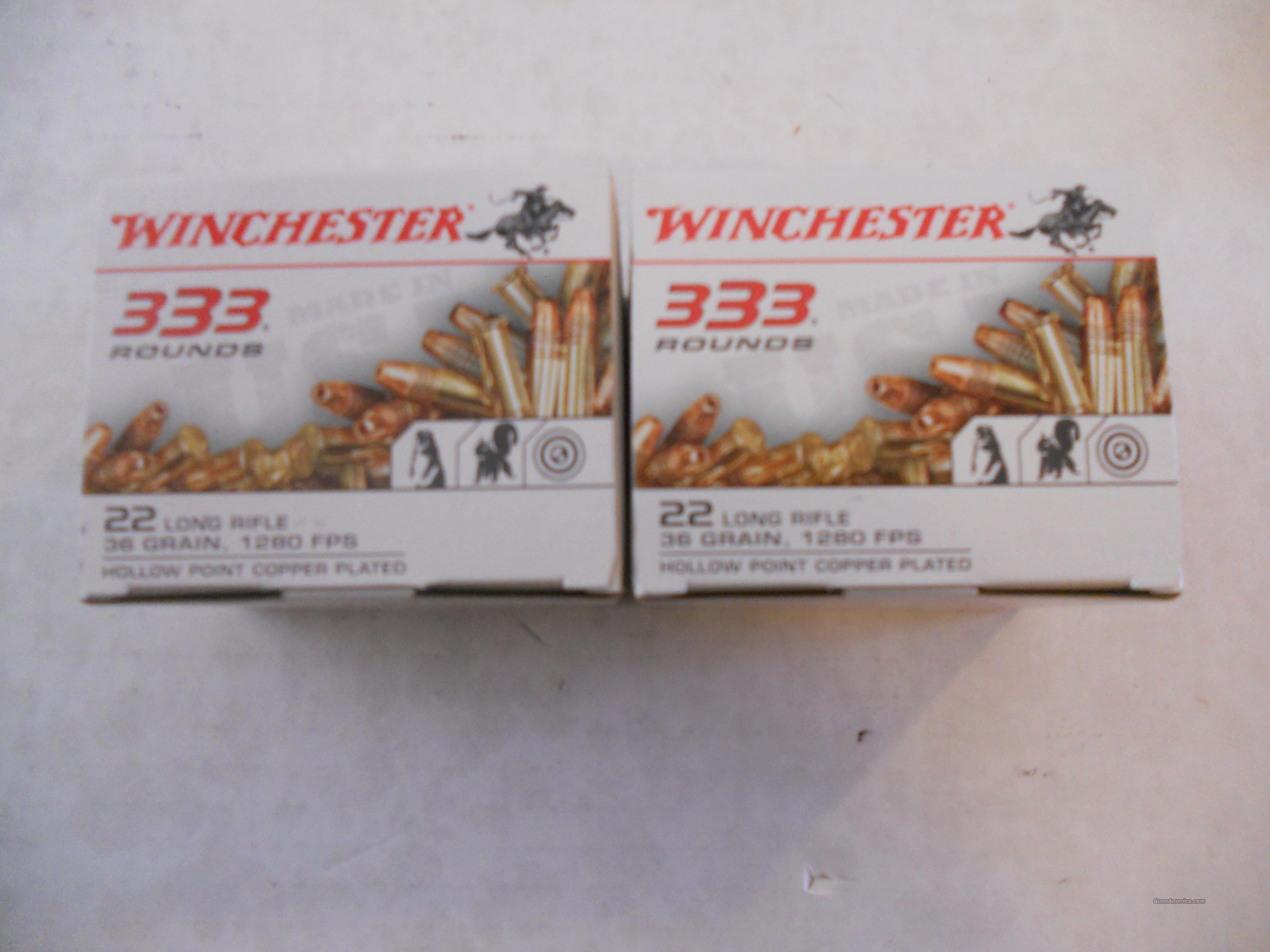 Winchester 333 rounds of 22 lr Hollow point  Non-Guns > Ammunition