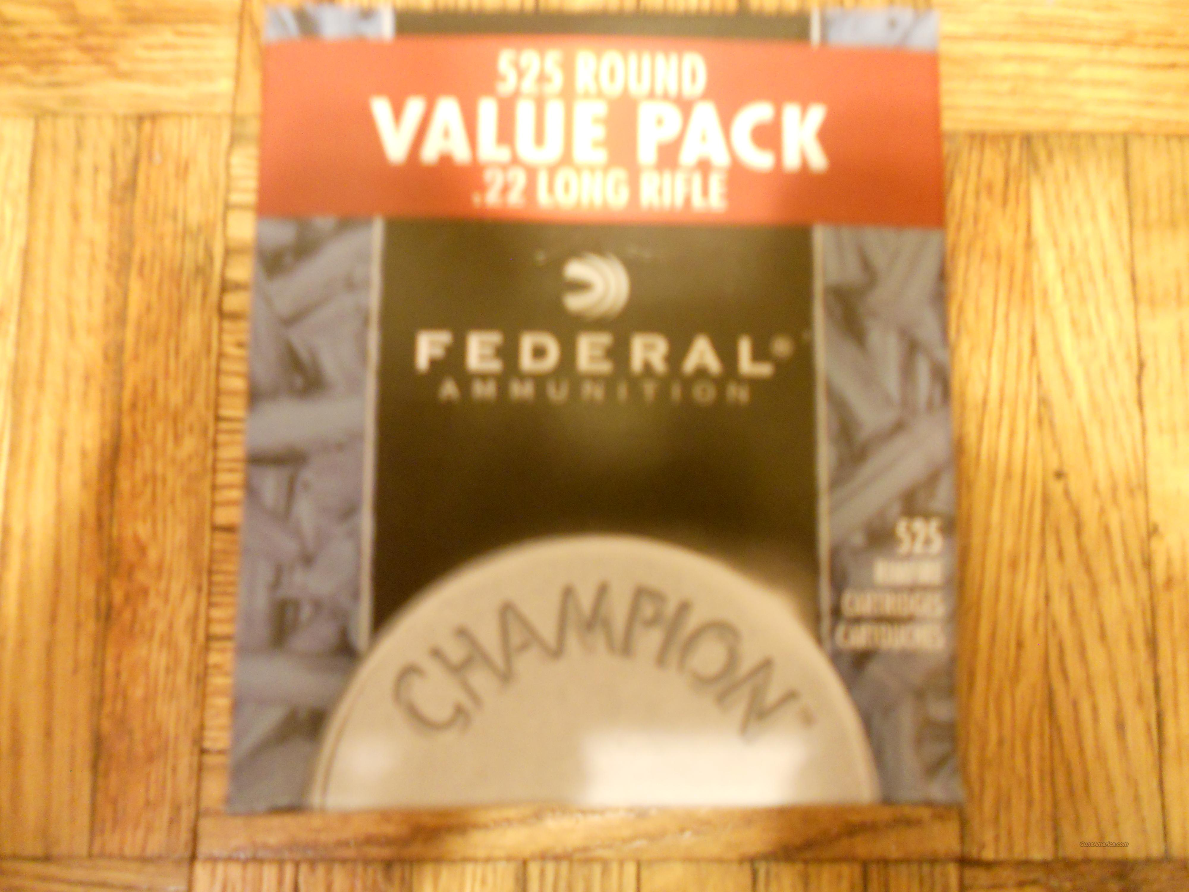 Federal champion 525 rounds 22 long rifle hollow point  Non-Guns > Ammunition