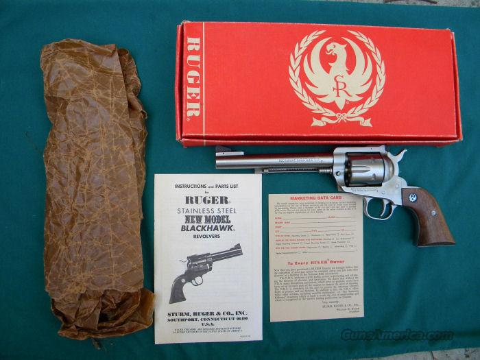 "Ruger 357 Magnum Blackhawk Stainless 6-1/2"" NIB 200 Year Anniversary Model       Guns > Pistols > Ruger Single Action Revolvers > Blackhawk Type"