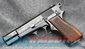 Original Browning High Power, with two extractors.    Guns > Pistols > Browning Pistols > Hi Power