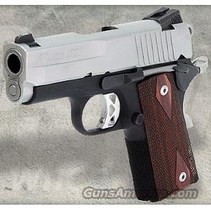 Sig 1911 Ultra Compact Pistol 1911U45TSS, 45 ACP, 3.3 in, Wood Grip, Reverse Two-Tone Finish, Night Sights, 7 Rd SHIPS FREE  Guns > Pistols > Sig - Sauer/Sigarms Pistols > 1911