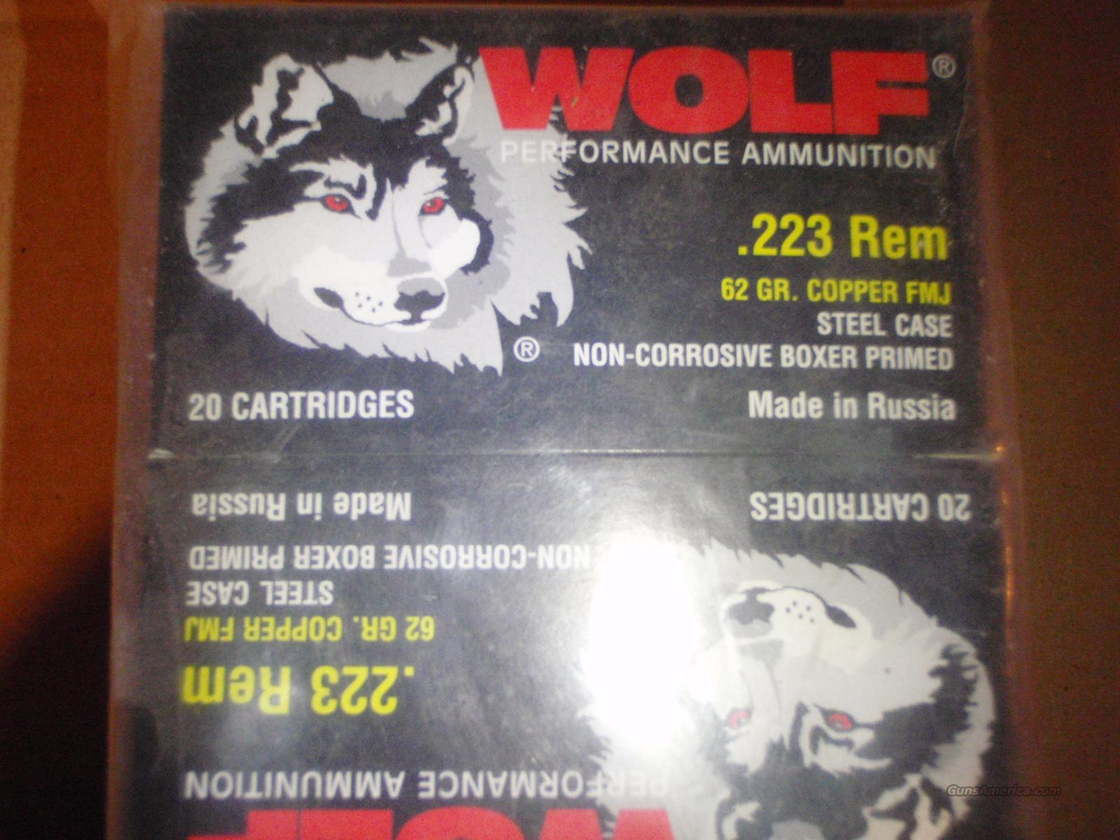 500 ROUNDS WOLF 223 62GR FMJ AMMO  Non-Guns > Ammunition