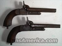 Pair French Flobert Pin Fire Double Barrel Pistols  Antique (Pre-1899) Pistols - Ctg. Misc.