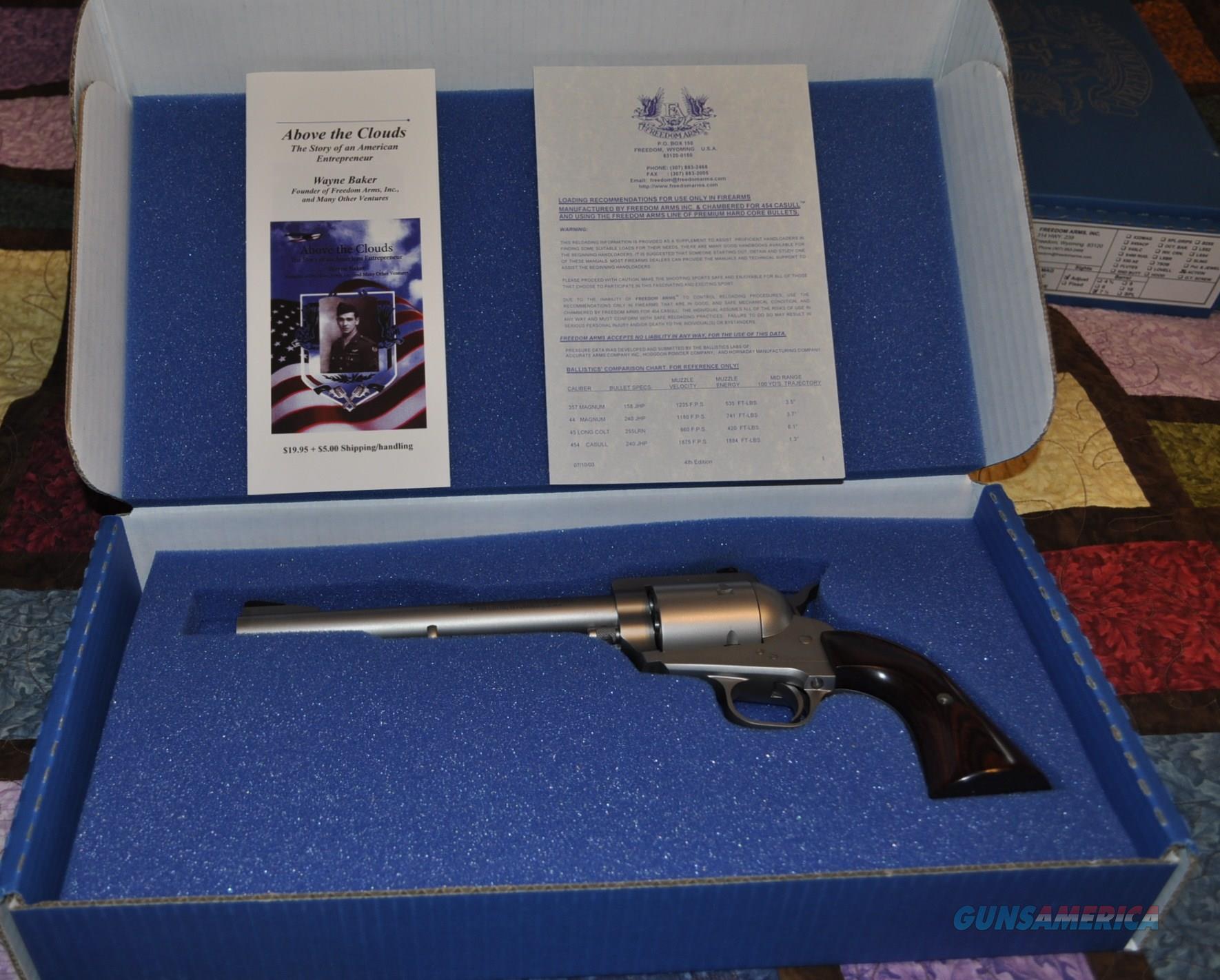 Model 83 .454 Casull Revolver  Guns > Pistols > Freedom Arms Pistols