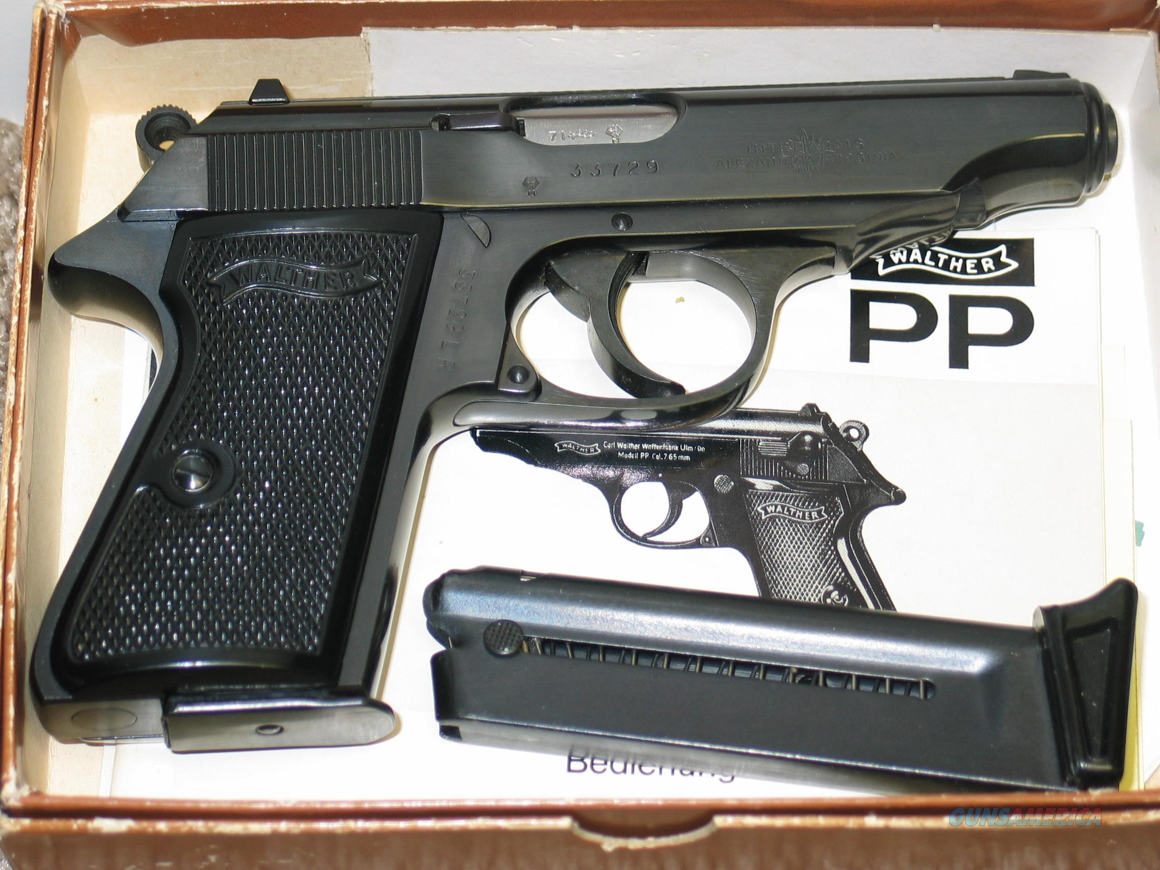 """WALTHER PP 22 LR BLUE 3.9"""" BOX & MANUAL 1971  Guns > Pistols > Walther Pistols > Post WWII > PPK Series"""