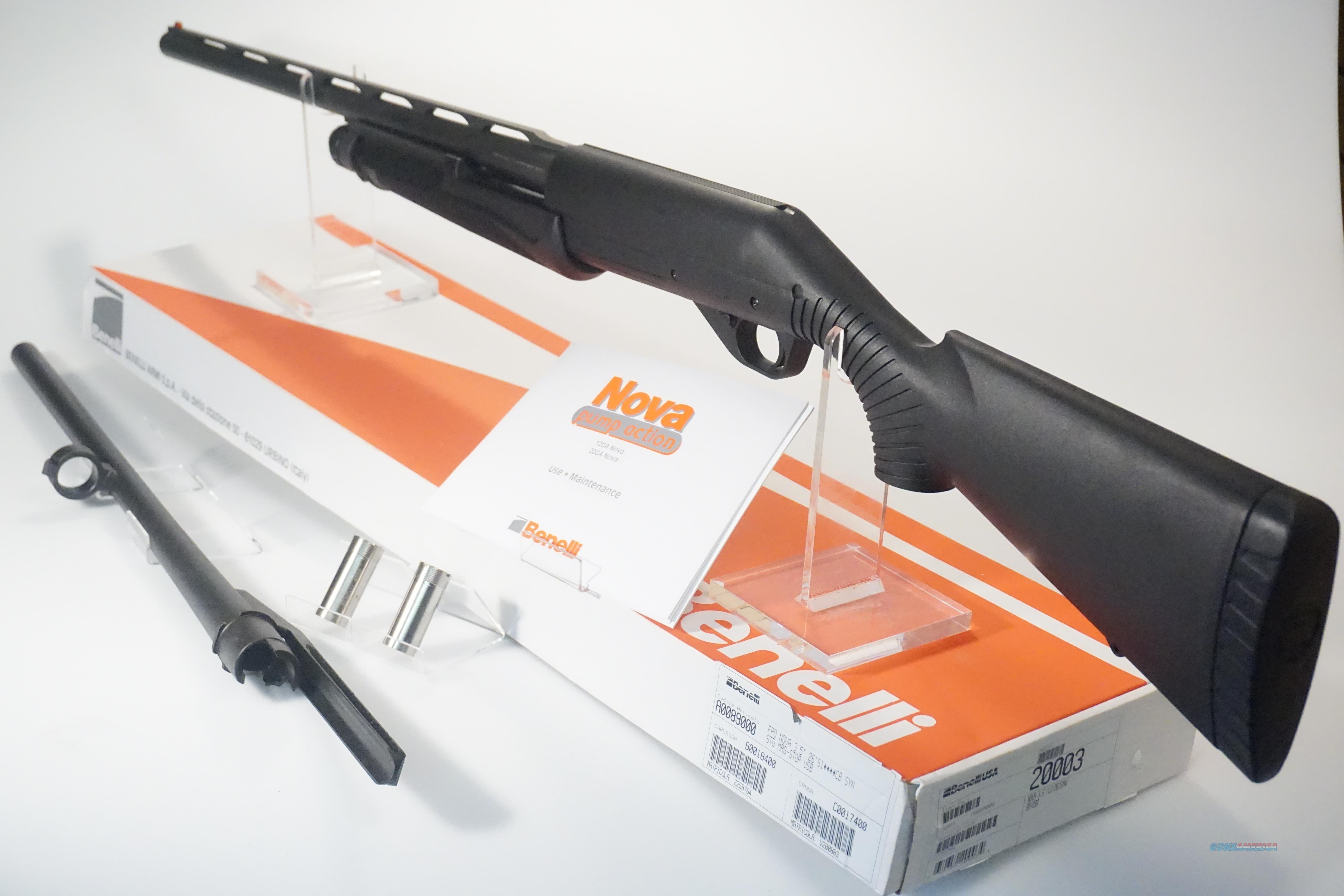 BENELLI NOVA 12GA  *WITH EXTRA SLUG BARREL* *BRAND NEW IN BOX*  Guns > Shotguns > Benelli Shotguns > Tactical