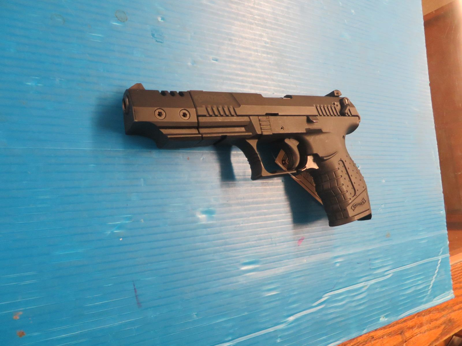 WALTHER P22 W/ WEGHTED COMPENSATOR AND THREADED BARRELL  Guns > Pistols > Walther Pistols > Post WWII > P22
