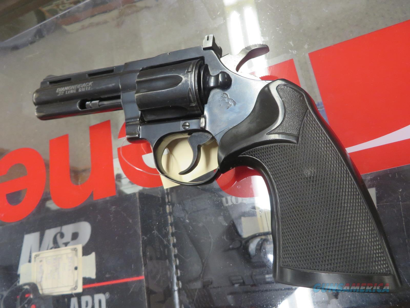 Colt Diamondback .22lr revolver 4'' barrel  Guns > Pistols > Colt Double Action Revolvers- Modern