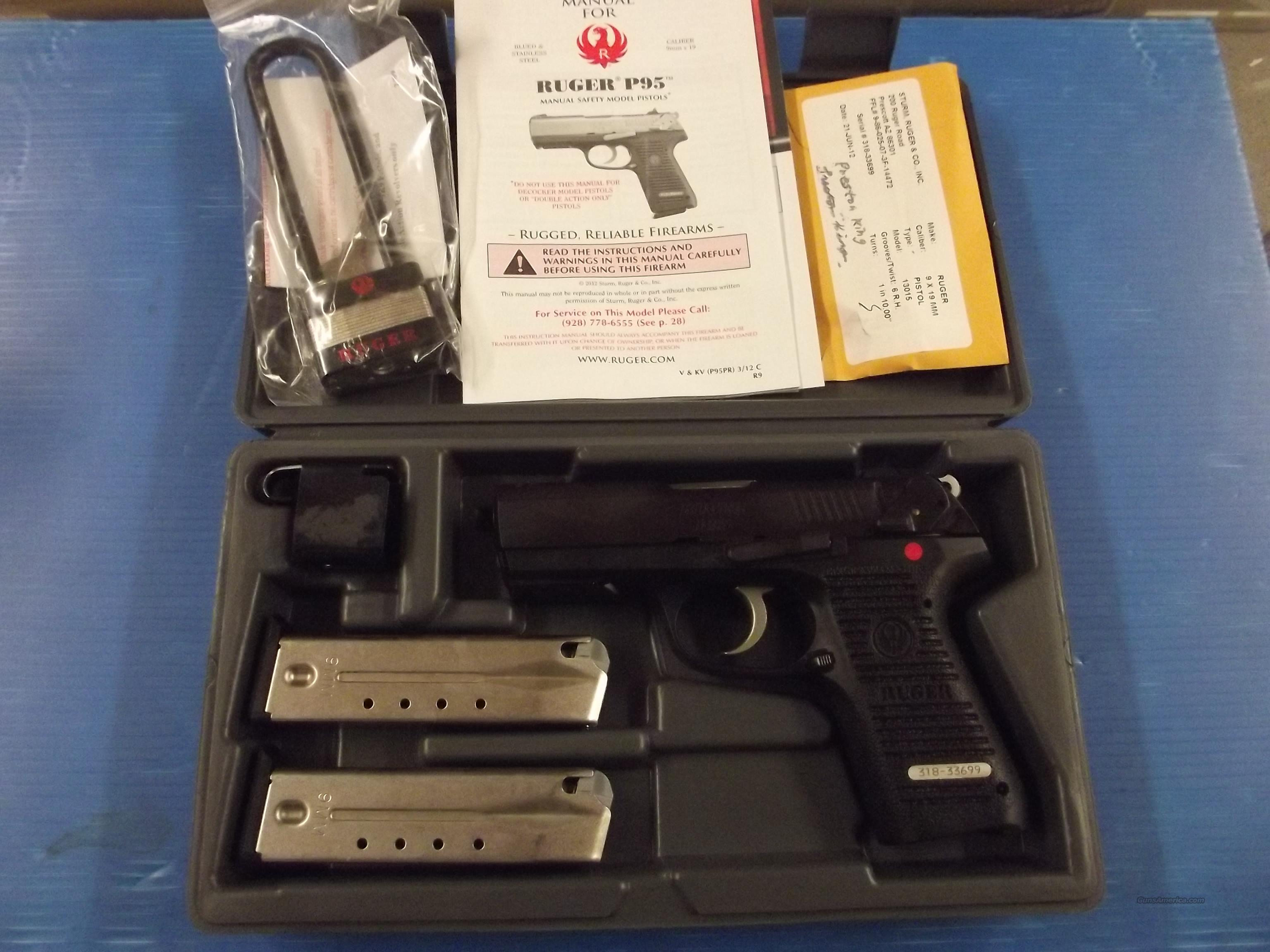 RUGER P95 9MM XX-3-5  Guns > Pistols > Ruger Semi-Auto Pistols > P-Series