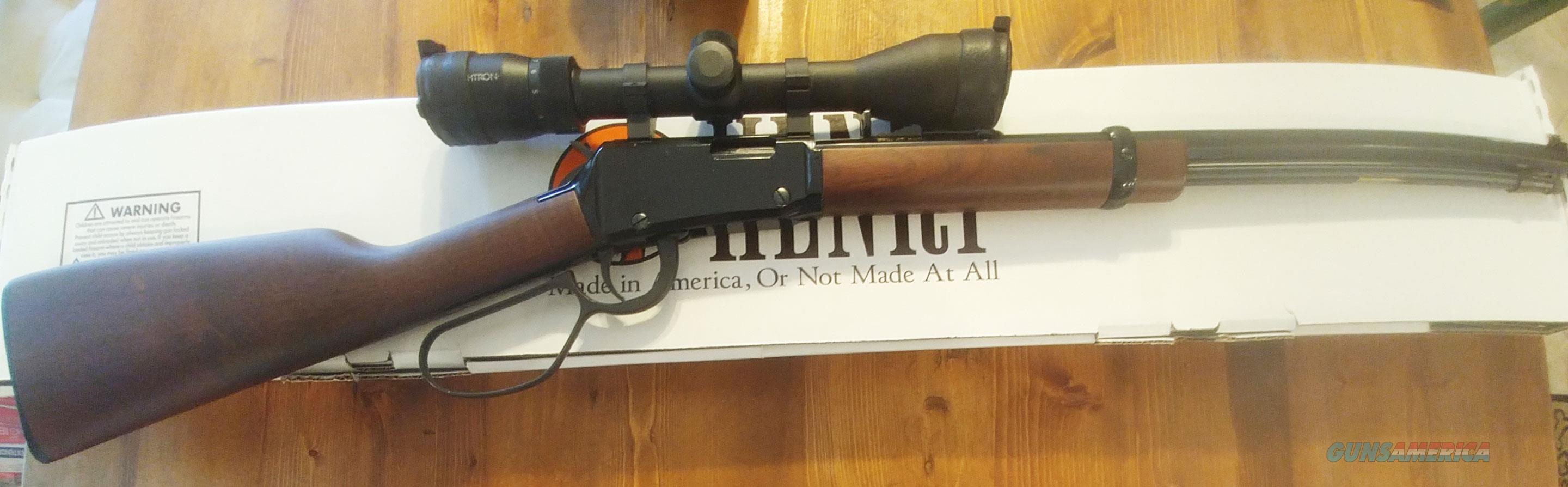 Henry Lever Action .17HMR Octagon Large Loop  w/Sightron 3x9 Scope   Guns > Rifles > Henry Rifle Company