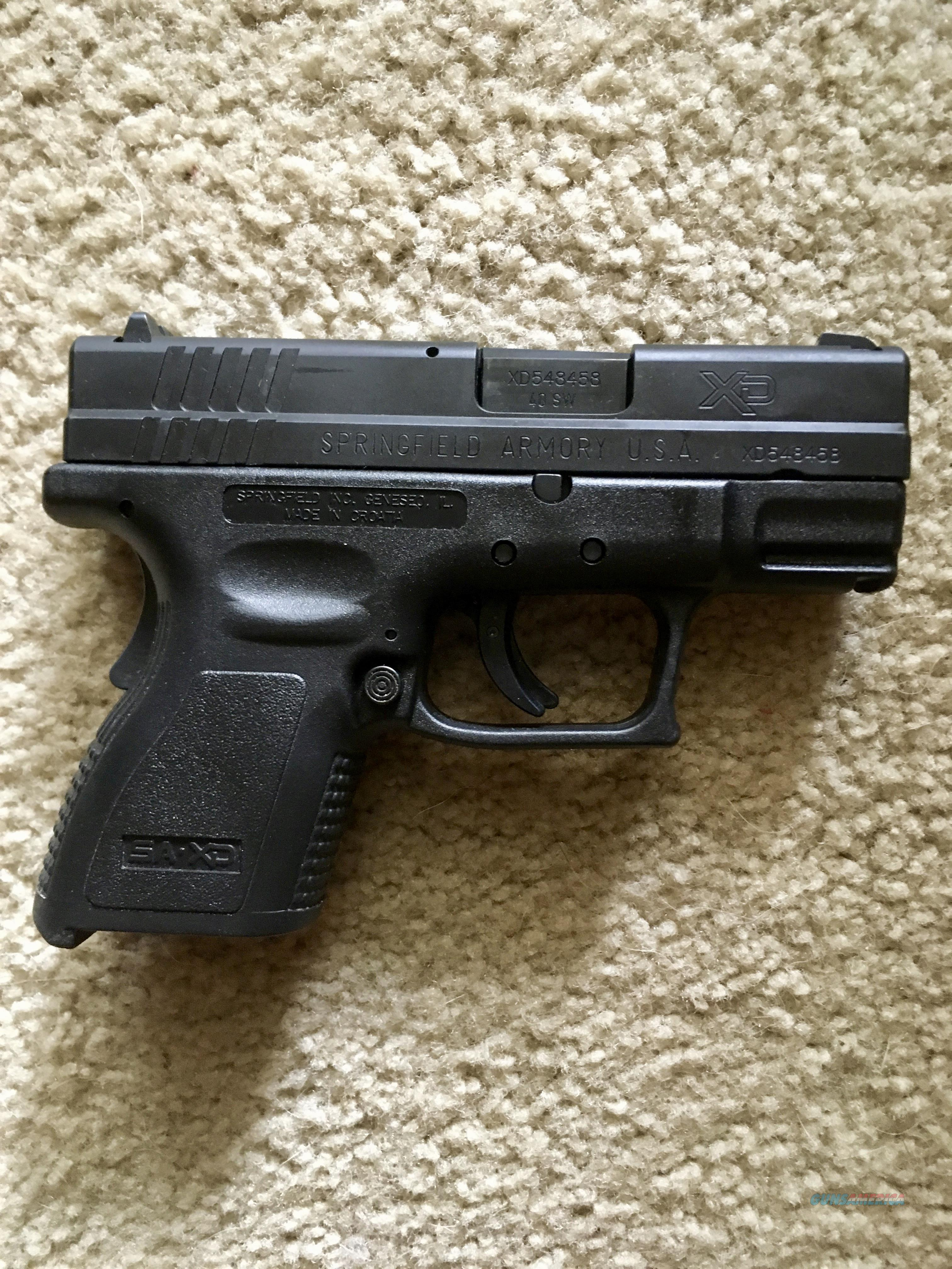 Springfield Sub-Compact XD-40 - As New, Never Fired  Guns > Pistols > Springfield Armory Pistols > XD-Mod.2