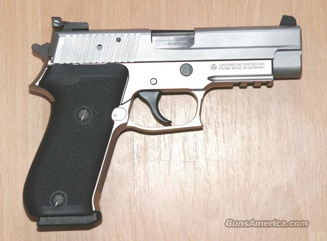 Sig Sauer P220 45ACP - 1911 -  Stainless Steel Tactic Rail Hogue Grips.Adj Sights  Guns > Pistols > Sig - Sauer/Sigarms Pistols > P220