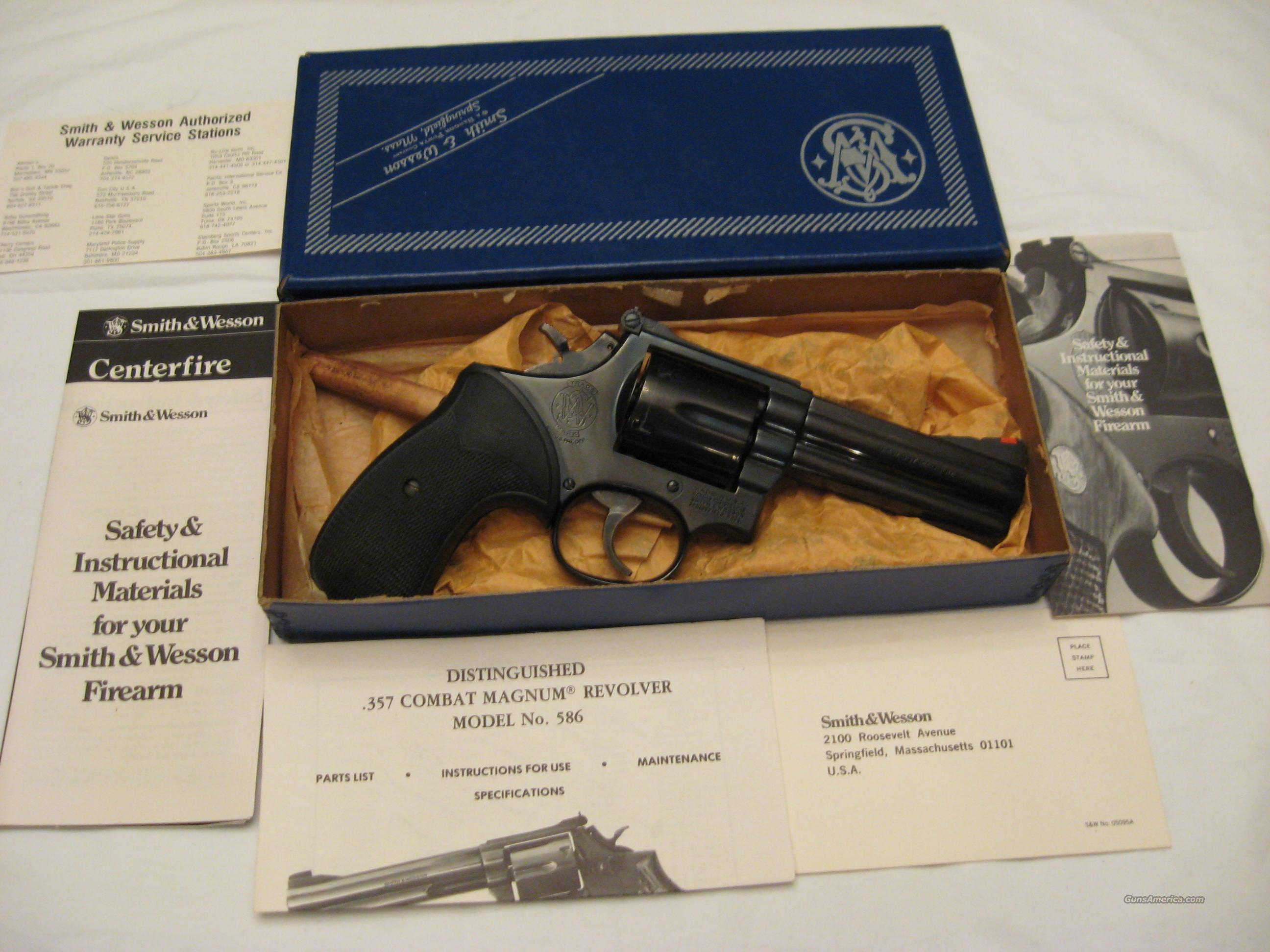 Smith and Wesson 586 .357mag  Guns > Pistols > Smith & Wesson Revolvers > Full Frame Revolver