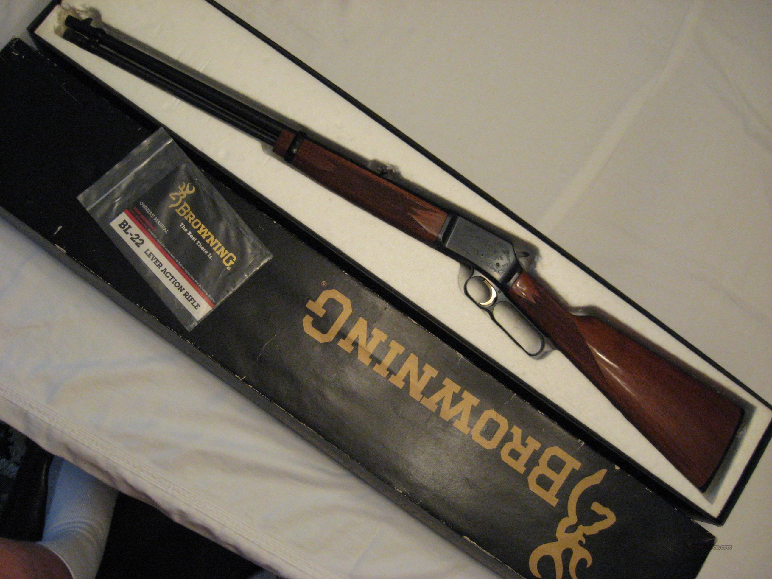 Browning BL 22 S.L.LR Grade II  Guns > Rifles > Browning Rifles > Lever Action