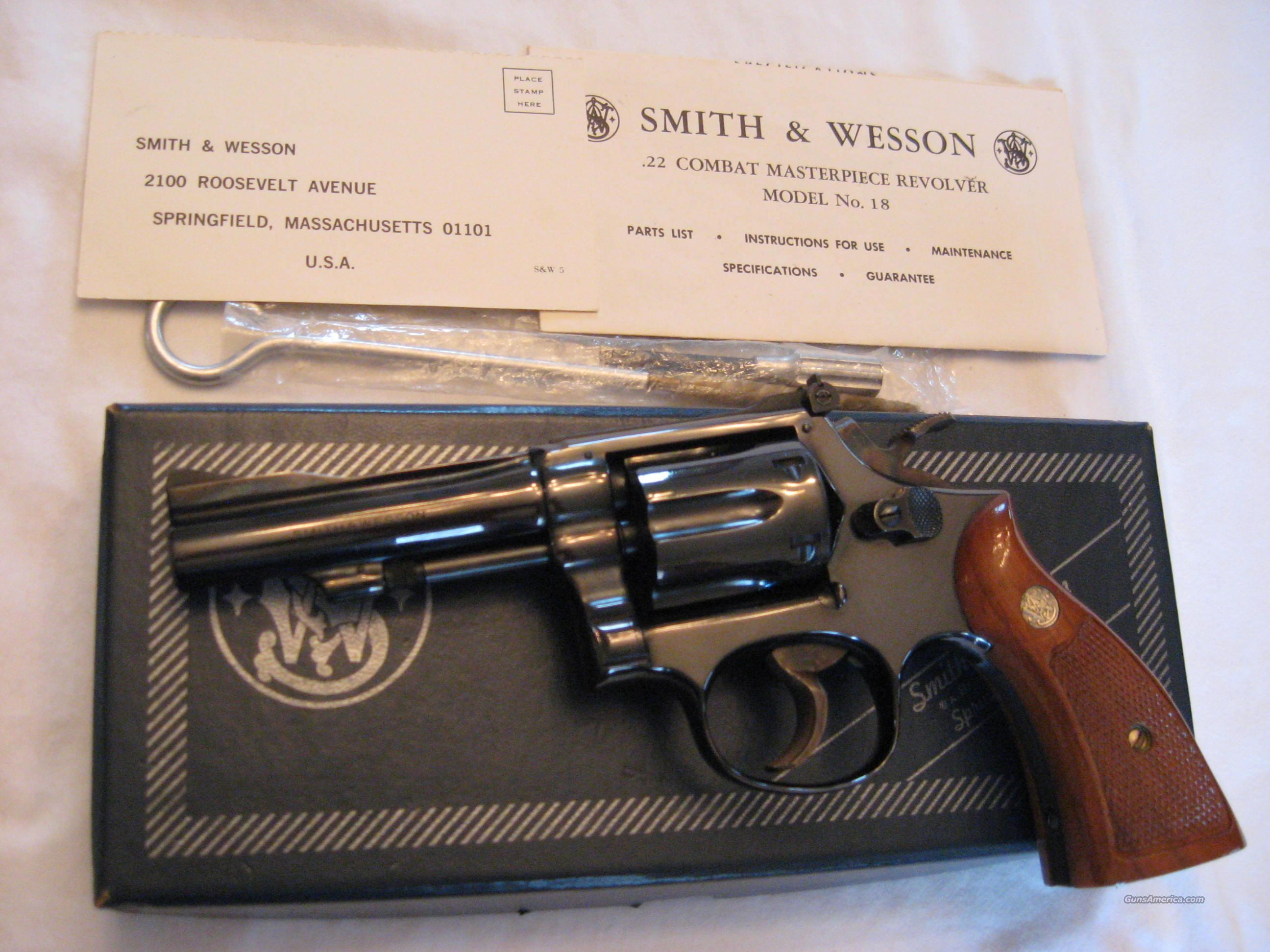 Smith & Wesson Model 18-3  Guns > Pistols > Smith & Wesson Revolvers > Full Frame Revolver