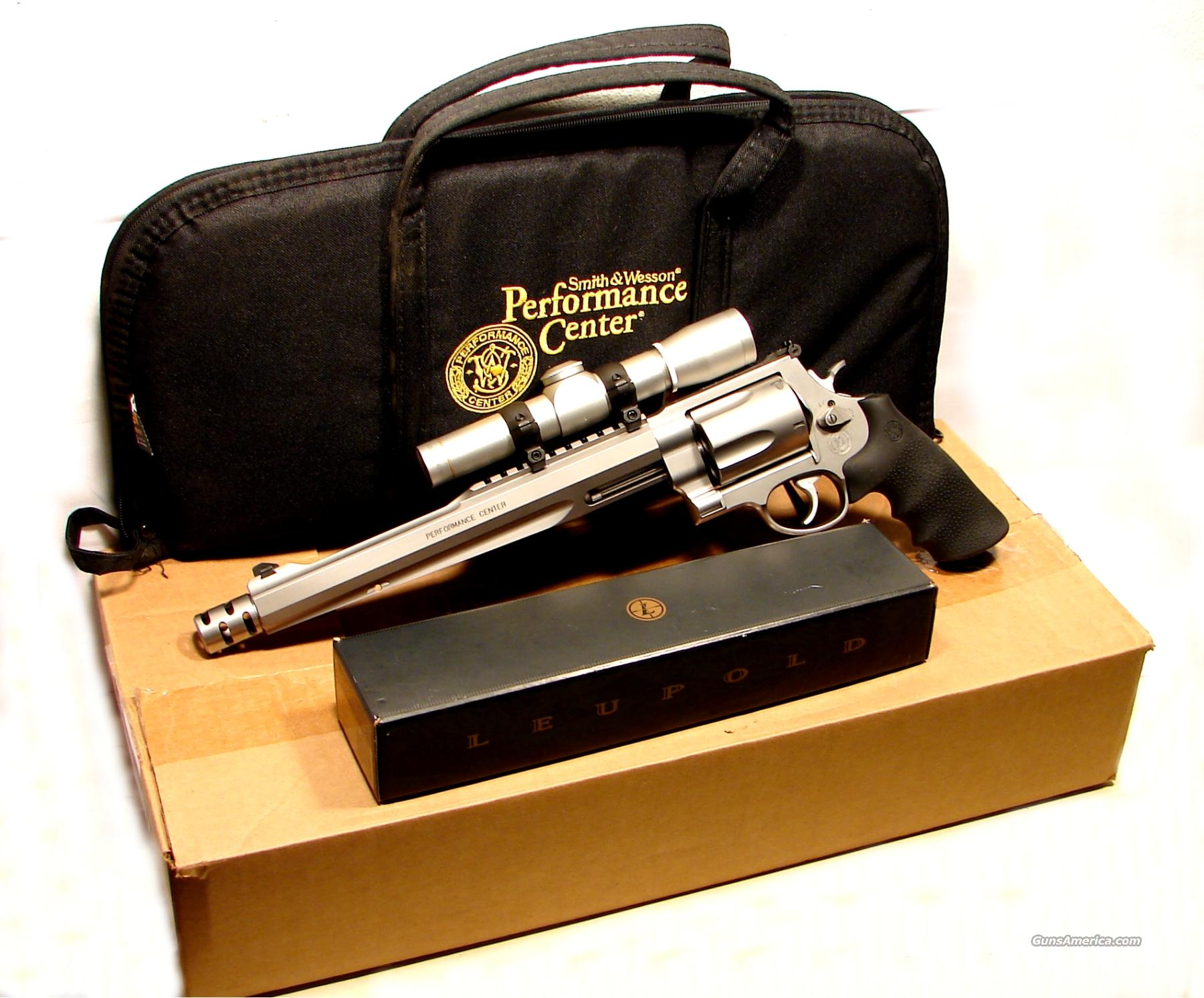 SMITH Wesson PC 500 S&W Leupold Scope LIKE New  Guns > Pistols > Smith & Wesson Revolvers > Performance Center