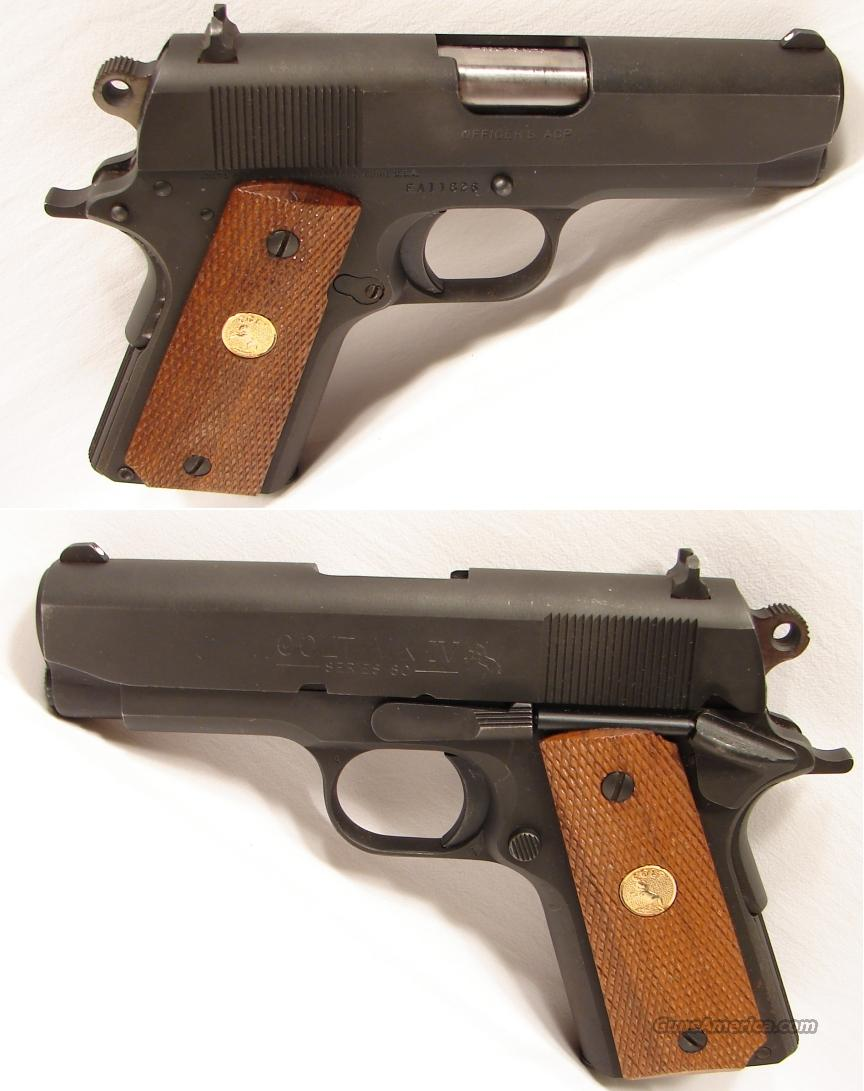 Colt MK IV 80 Series Officers model 45 ACP  Guns > Pistols > Colt Automatic Pistols (1911 & Var)