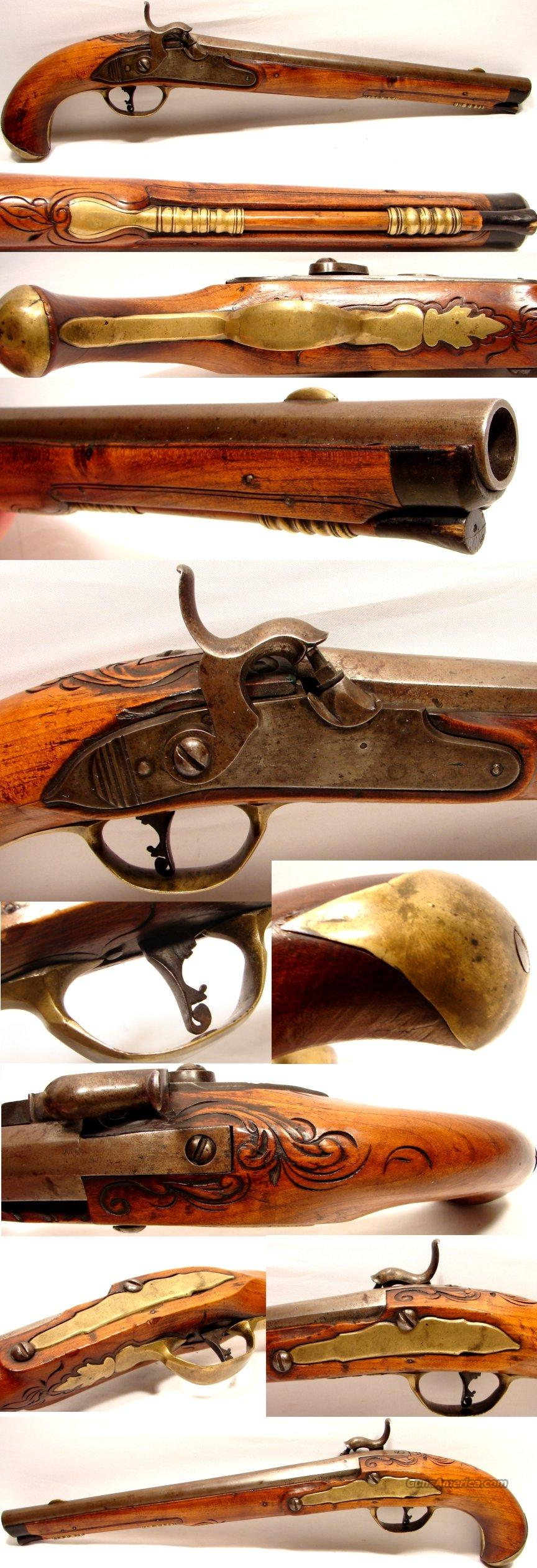 Very early Flintlock converted to percussion circa 1830-40  Guns > Pistols > Antique (Pre-1899) Pistols - Perc. Misc.