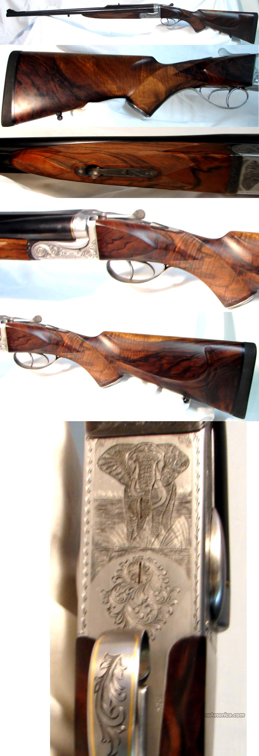 Butch Searcy & Company Deluxe Boxlock Double 470 Nitro Express 25K Invested  Guns > Rifles > Double Rifles (Misc.)