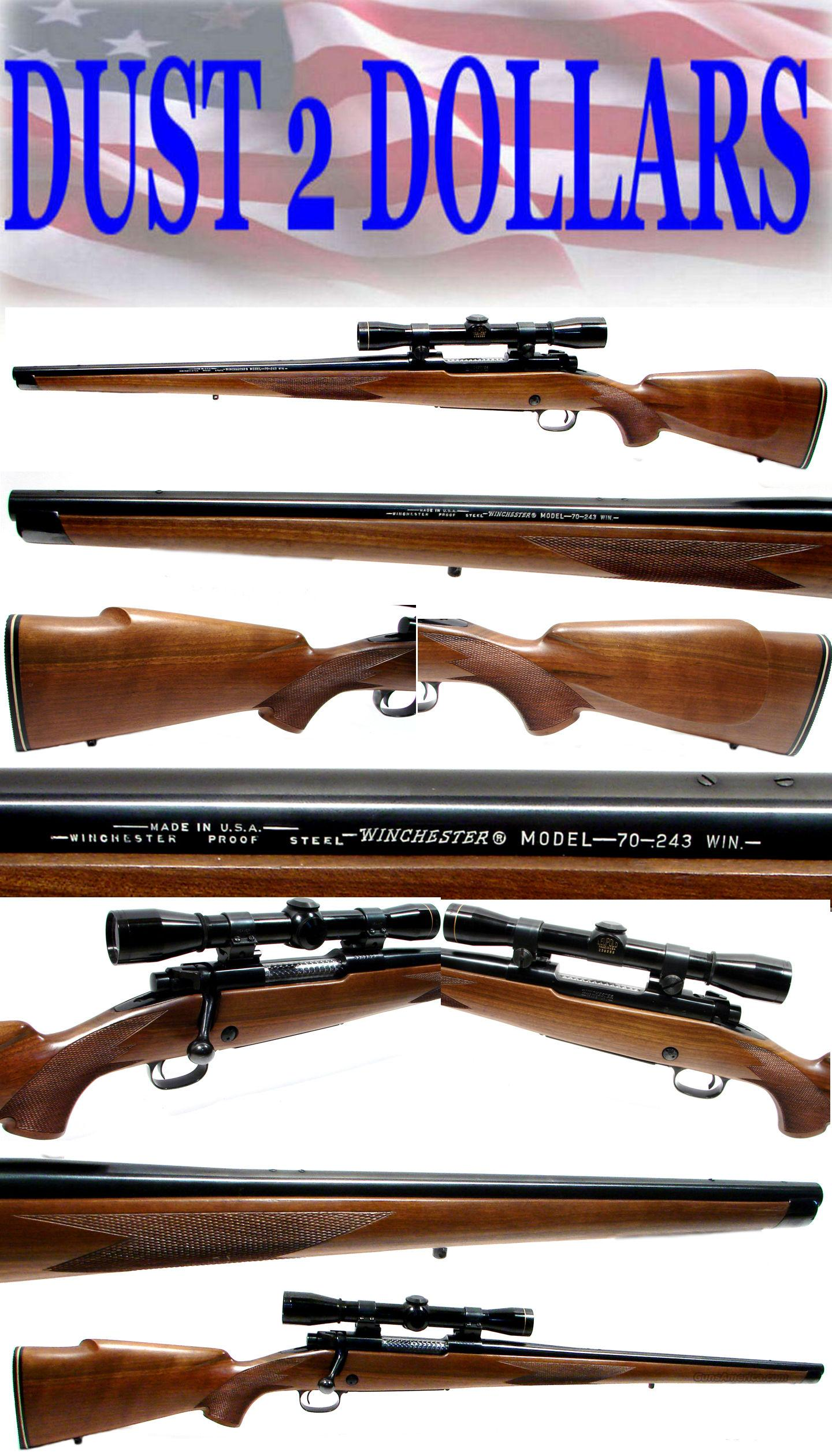 RARE Winchester 70 Mannlicher 243 Only 387 Made Leupold Scope CLOSET QUEEN  Guns > Rifles > Winchester Rifles - Modern Bolt/Auto/Single > Model 70 > Post-64
