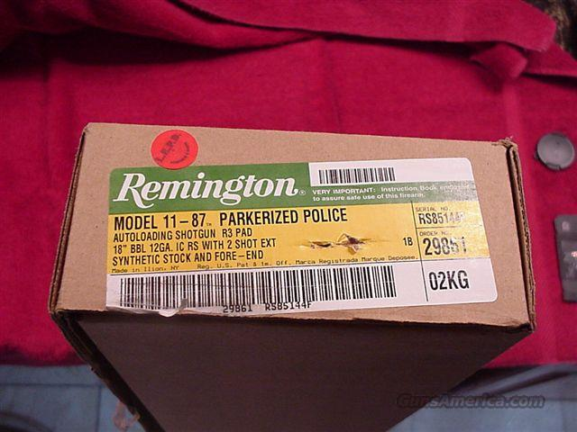 REMINGTON 11-87 POLICE SEMI-AUTO 12GA SHOTGUN (29861)  Guns > Shotguns > Remington Shotguns  > Autoloaders > Tactical