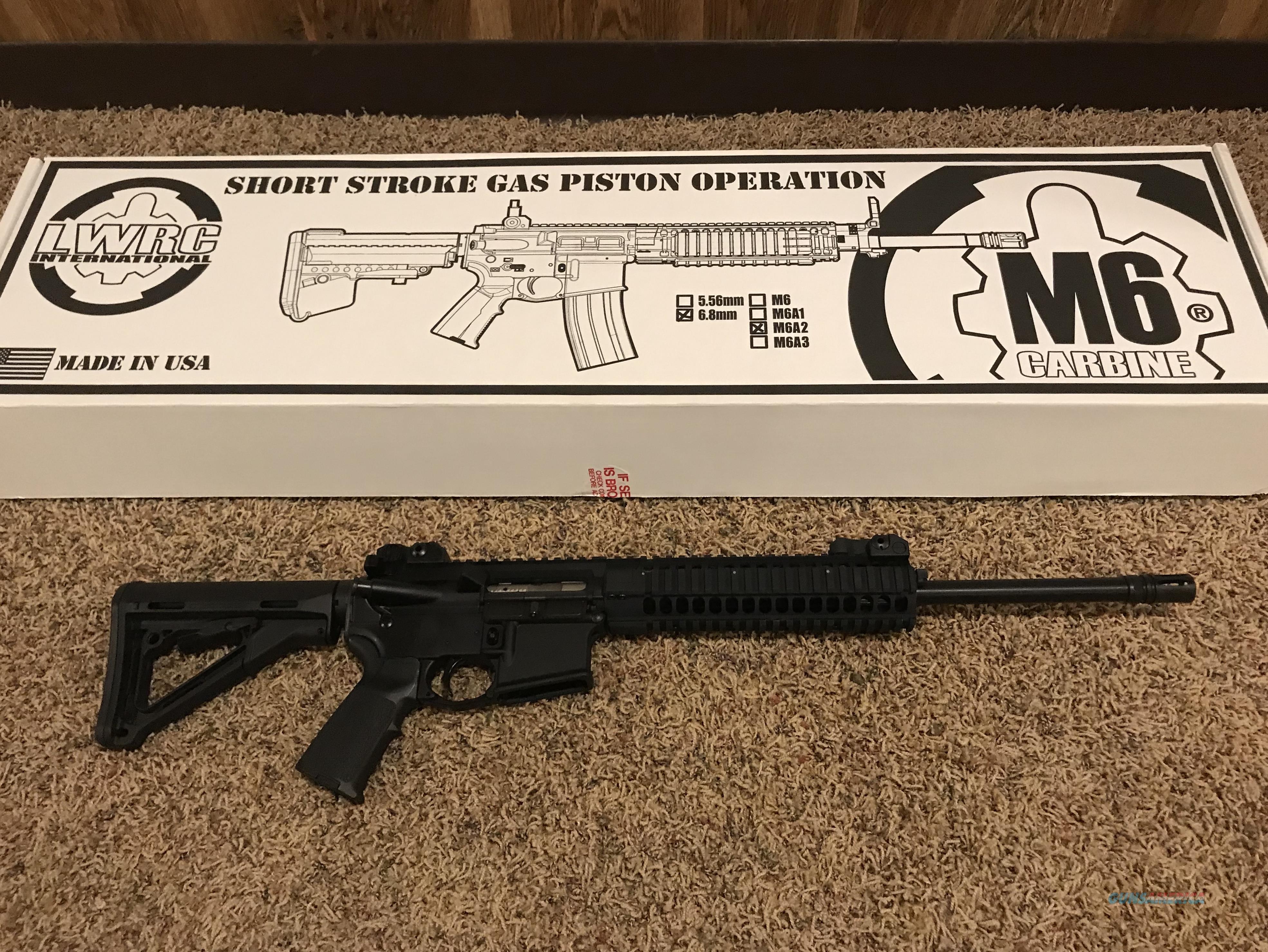 LWRC  M6A2  6.8 SPC   short stroke piston  Guns > Rifles > LWRC Rifles