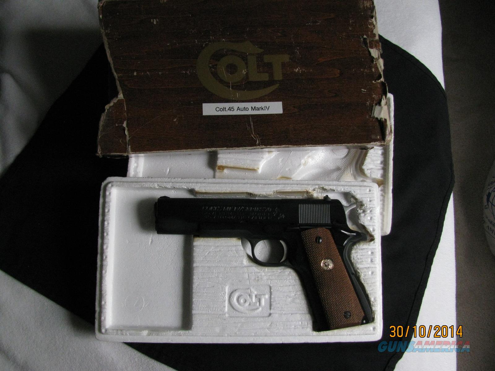 Colt Government Series 70 New with Original Box  Guns > Pistols > Colt Automatic Pistols (1911 & Var)