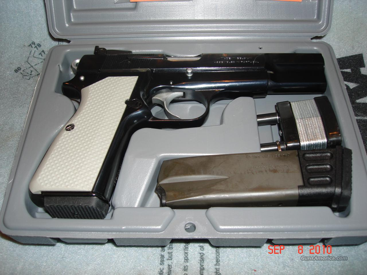 Browning Hi-Power 9mm C&S Hardchrome Upgrades VZ Grips  Guns > Pistols > Browning Pistols > Hi Power