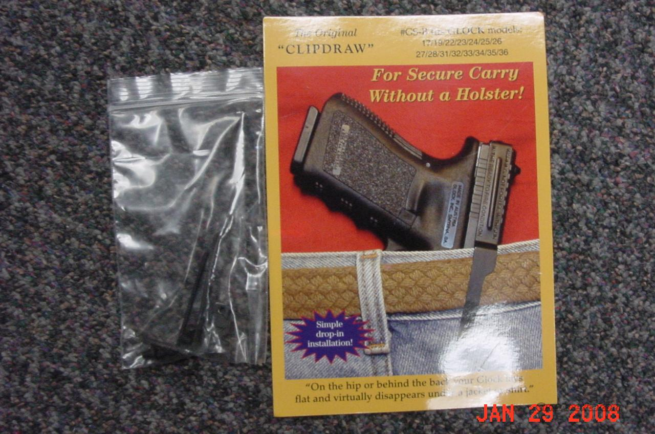 GLOCK CLIPDRAW  Non-Guns > Holsters and Gunleather > Concealed Carry
