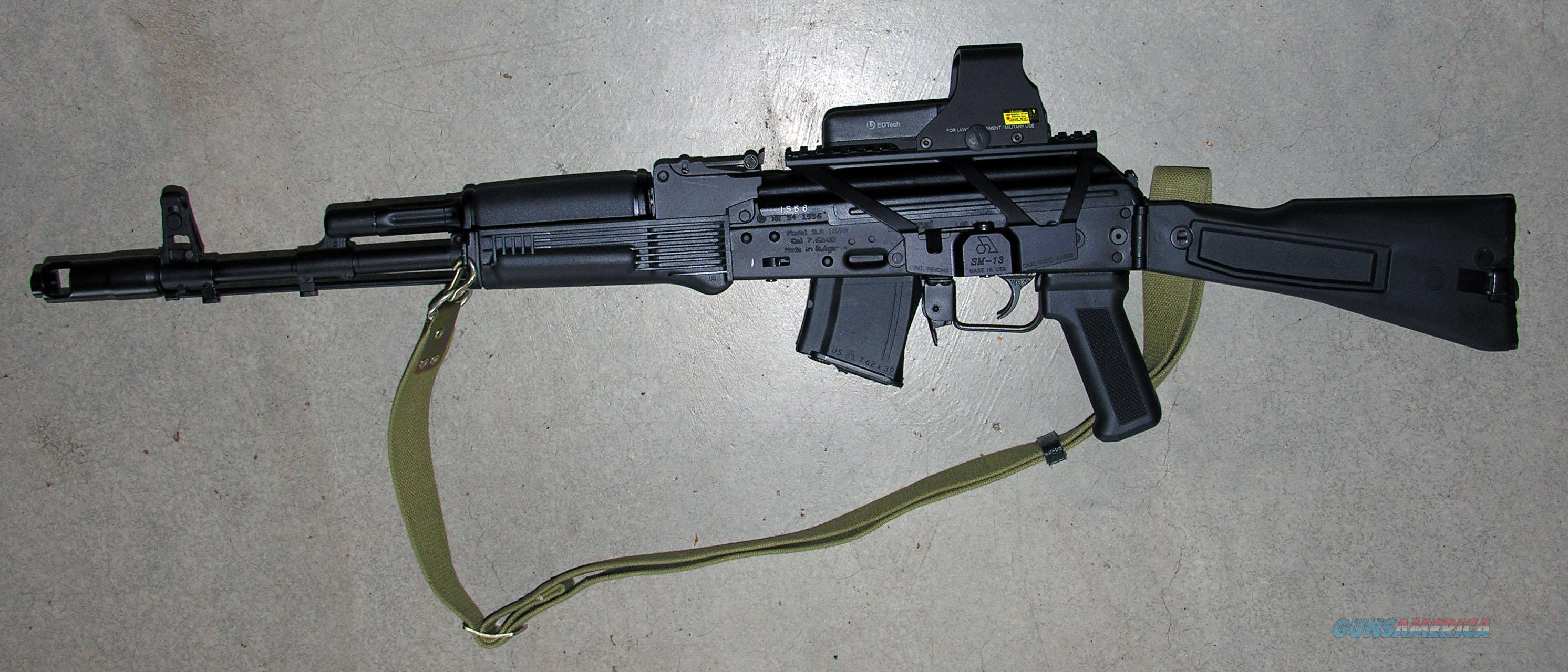 ARSENAL AK-47 SLR 107-31 FOLDING STOCK, 7.62X39, EOTECH SIGHT - AK NEVER FIRED; MANY EXTRAS: 1000 ROUNDS AMMO - ALL NEW; NEW DOUBLE STAGE TRIGGER GROUP; SM-13 mount; 120 ROUND MAG POUCH & MAGS; TRIGGER RETAINING PLATE; CARRING CASE.  Guns > Rifles > AK-47 Rifles (and copies) > Folding Stock