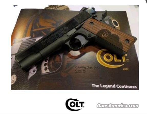 Colt 1911 wiley clapp government series 70 coo1911wc 45acp for sale