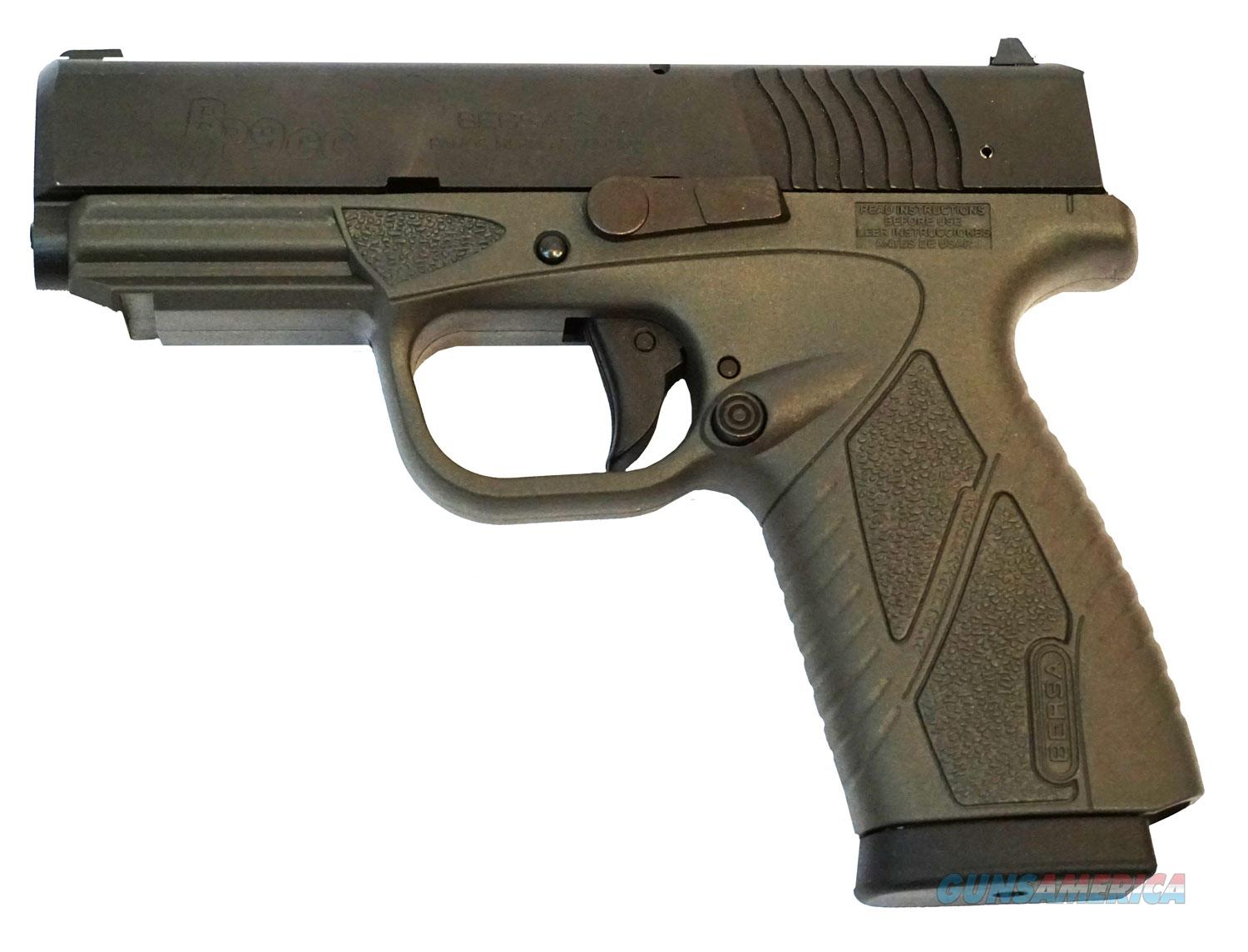 "BERSA BP9GRCC 9MM 3.3"" BARREL SINGLE STACK GREY  Guns > Pistols > Bersa Pistols"