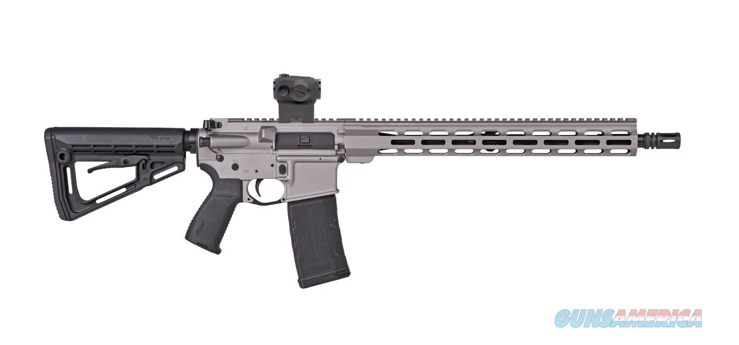 "HOT DEAL!!!  SIG Sauer M400 Elite TI AR-15 Semi Auto Rifle 5.56 NATO 16"" Barrel 30 Round Magazine SIG Romeo5 Red Dot Free Float M-LOK Hand Guard Titanium Finish  Guns > Rifles > Sig - Sauer/Sigarms Rifles"