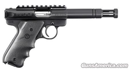 Ruger Mark III with flash suppressor 10154   Guns > Pistols > Ruger Semi-Auto Pistols > Mark I & II Family