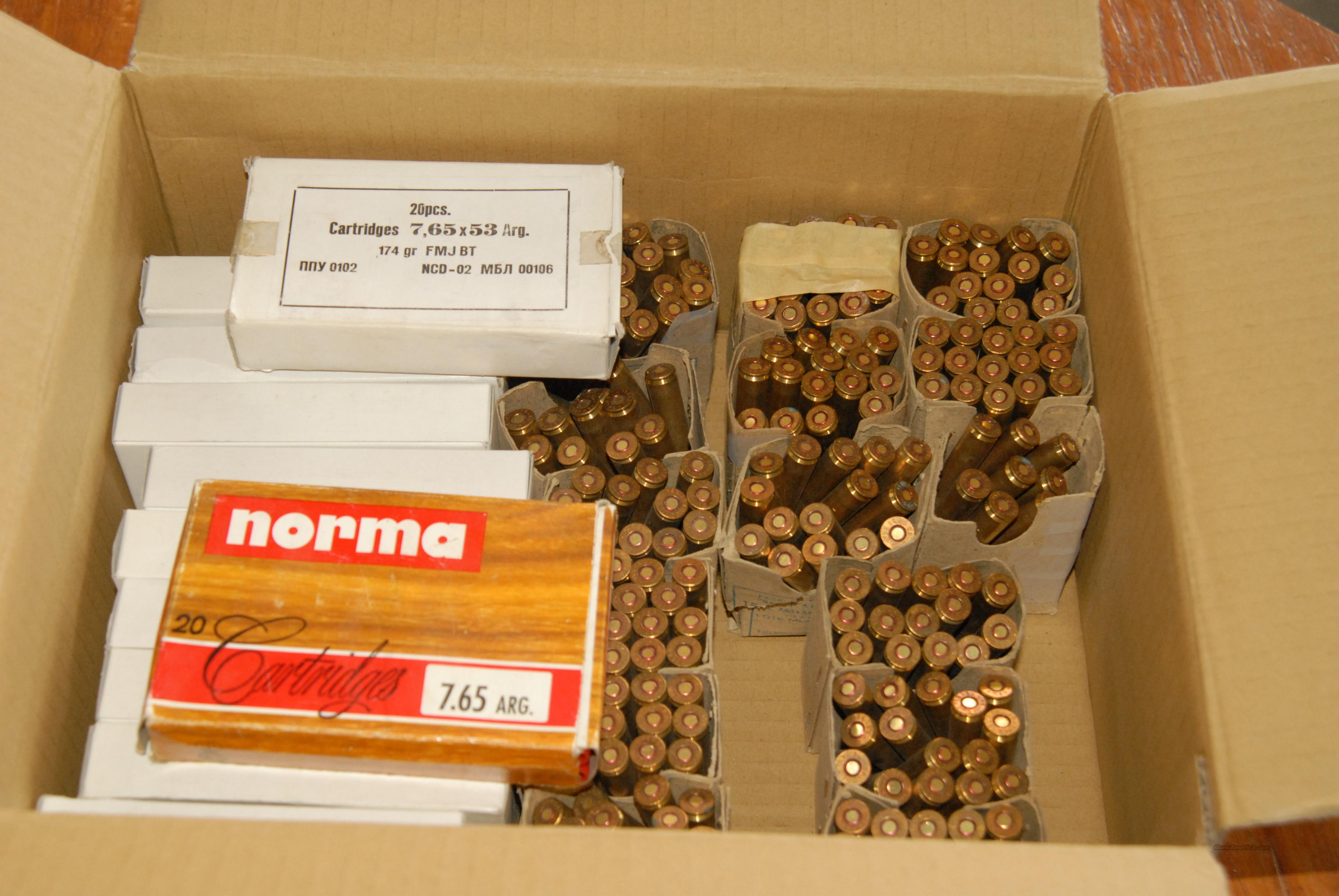 7.65 Argentine Rifle Ammo - 440 Rounds  Non-Guns > Ammunition