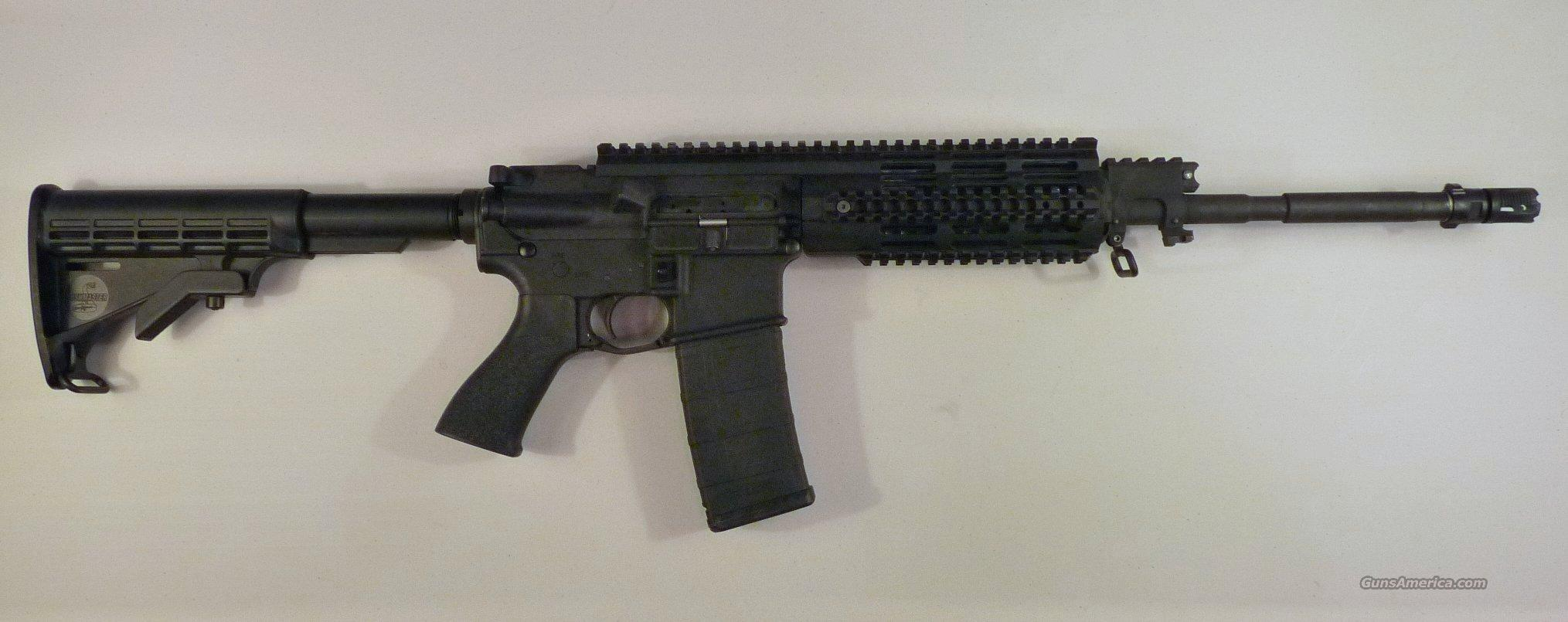 Bushmaster Gas Piston 223 rifle (Used - Like New) with Bushmaster quad rail, Tango Down Battlegrip, MagPul PMag, & Gemtech flash suppressor/bi-lock silencer mount -- Bushmaster Rifle # BCWA3F 16M4-GP  Guns > Rifles > Bushmaster Rifles > Complete Rifles
