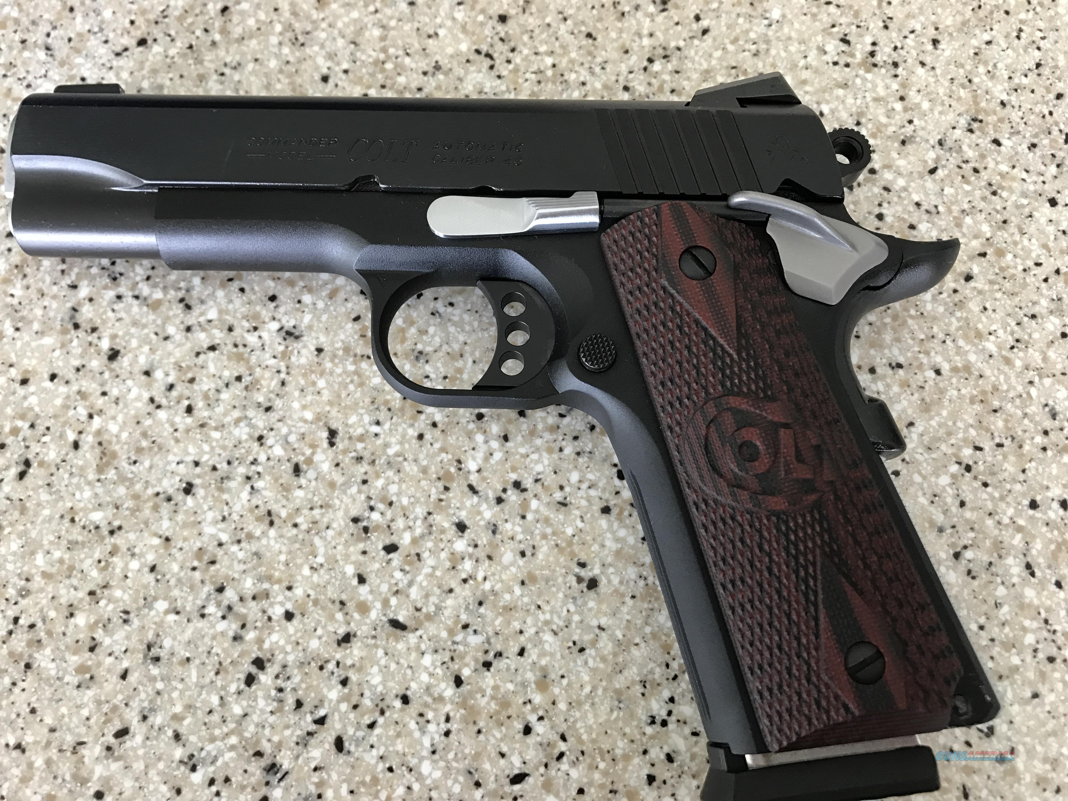 LiNIB Lightweight Commander Blued, Novak Night sights , with hard chrome parts  from Accurate Plating  Guns > Pistols > Colt Automatic Pistols (1911 & Var)