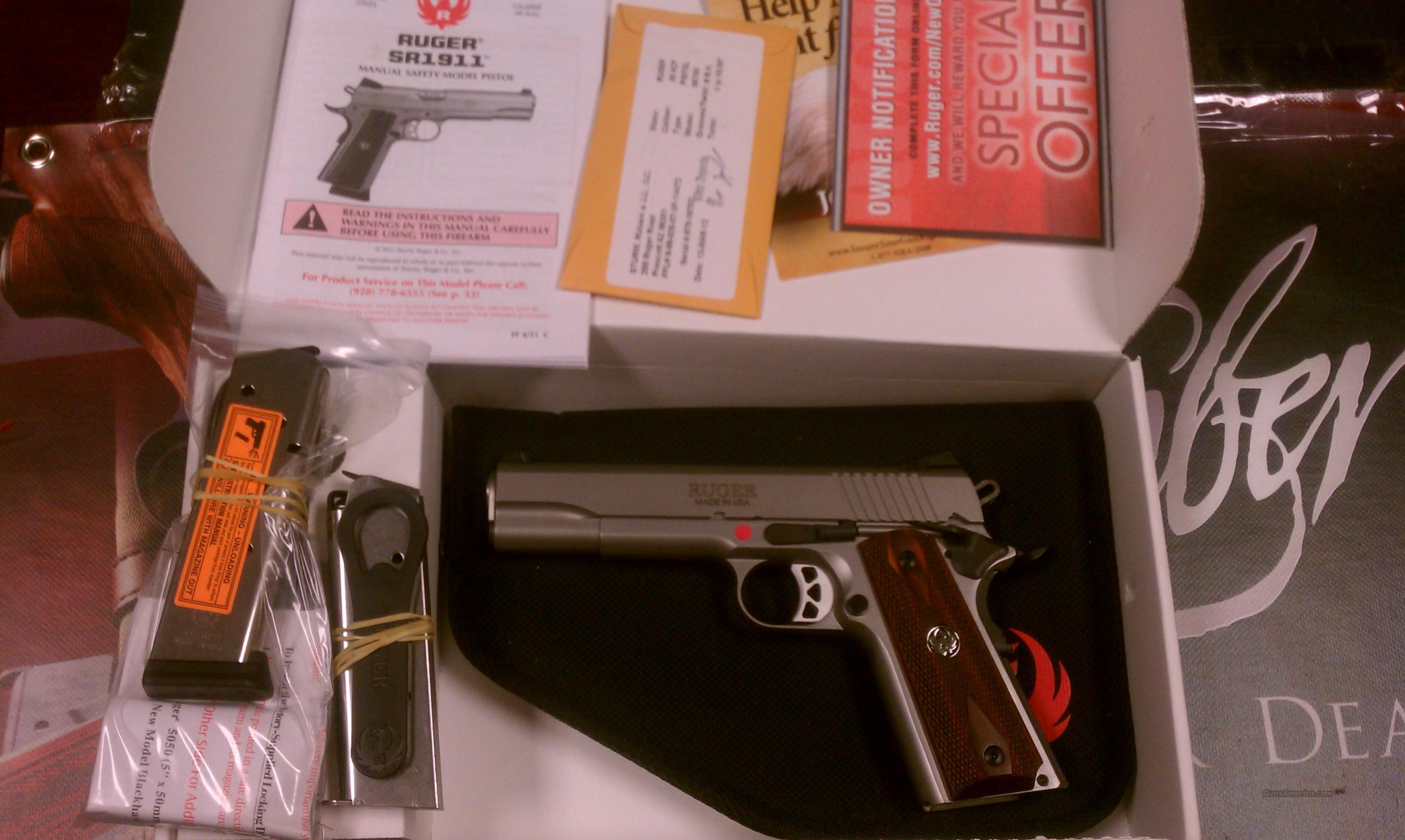 Ruger SR1911 .45 ACP Stainless  Guns > Pistols > Ruger Semi-Auto Pistols > SR9 & SR40