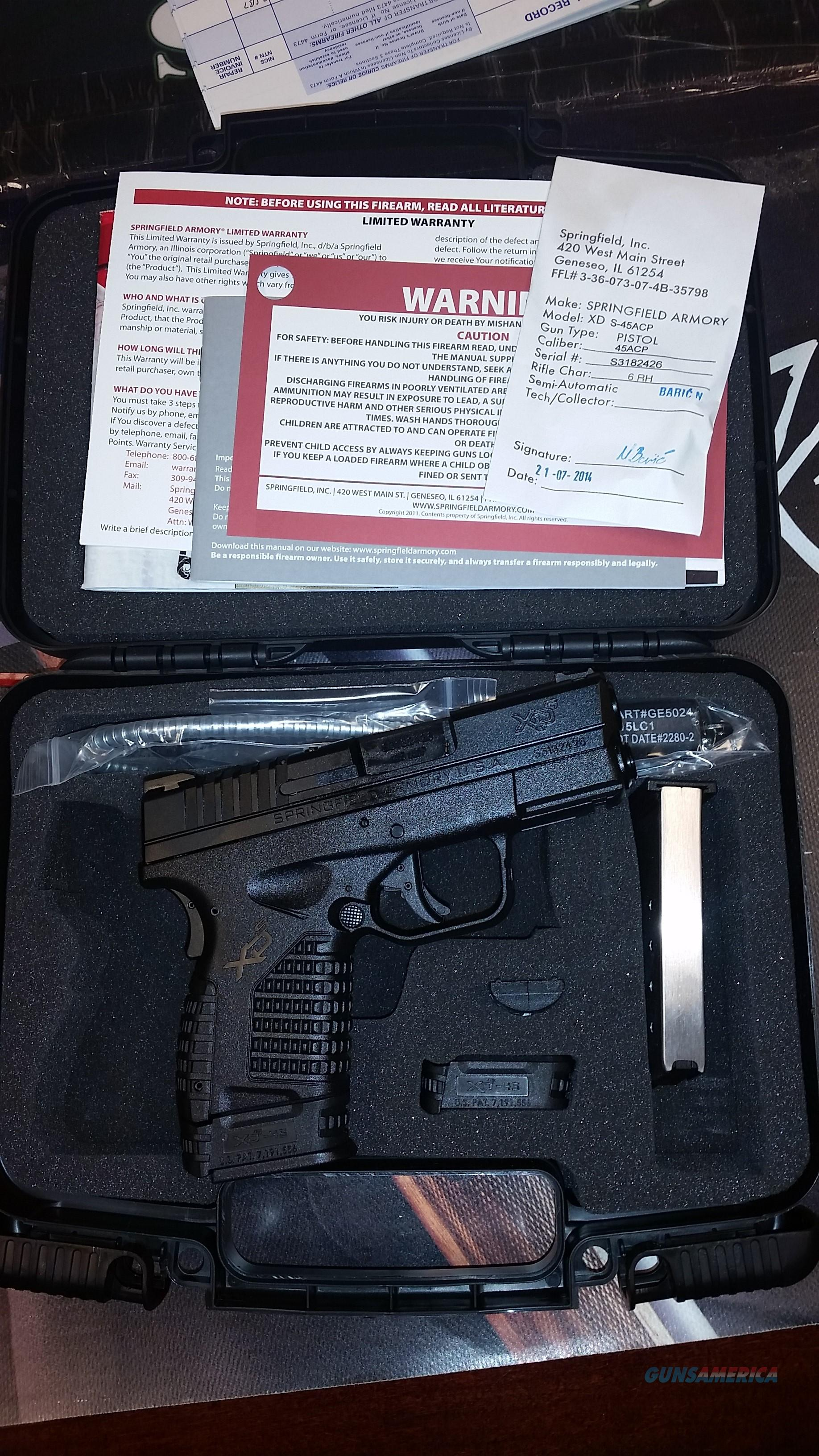 Springfield XDS .45 3.3 Black Essentials Package  Guns > Pistols > Springfield Armory Pistols > XD-S