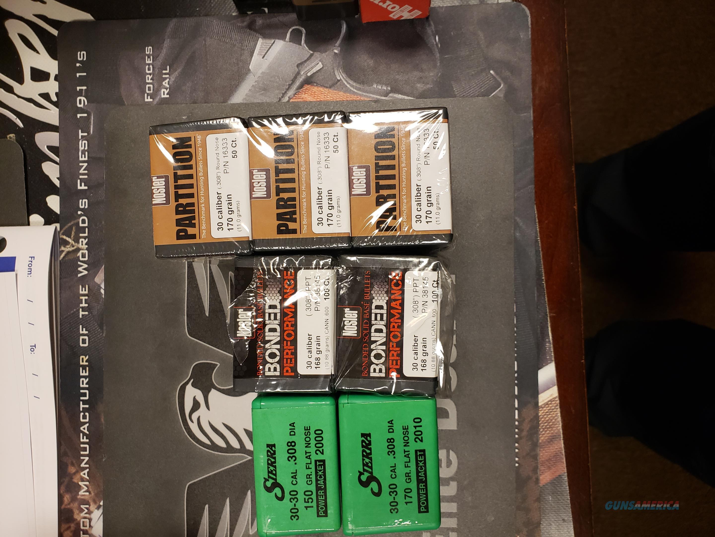 30-30  .308 Bullet Lot Sierra, Nosler  Non-Guns > Reloading > Components > Bullets