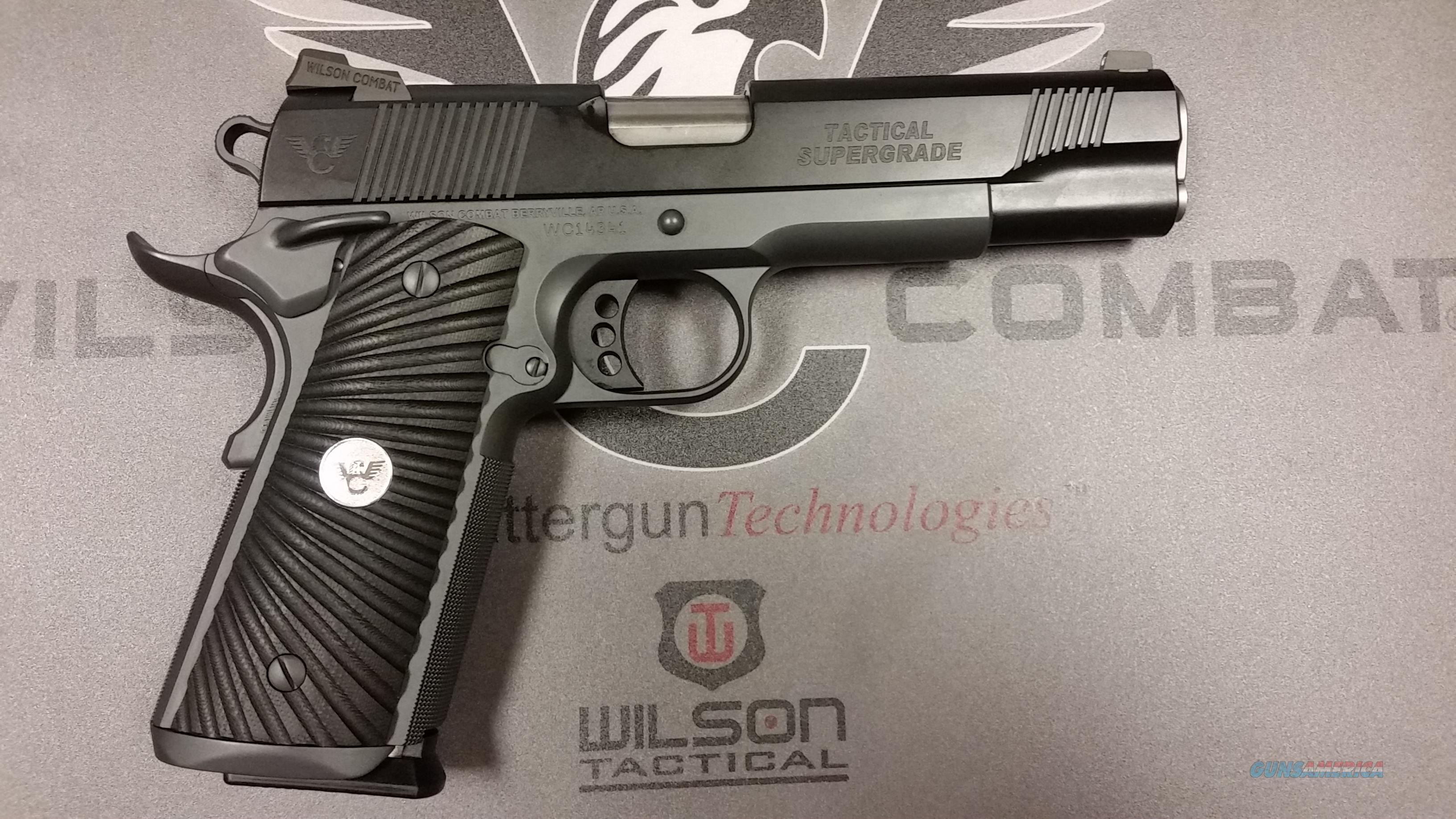 Wilson Combat Tactical Supergrade .45 Black/Gray  Guns > Pistols > Wilson Combat Pistols