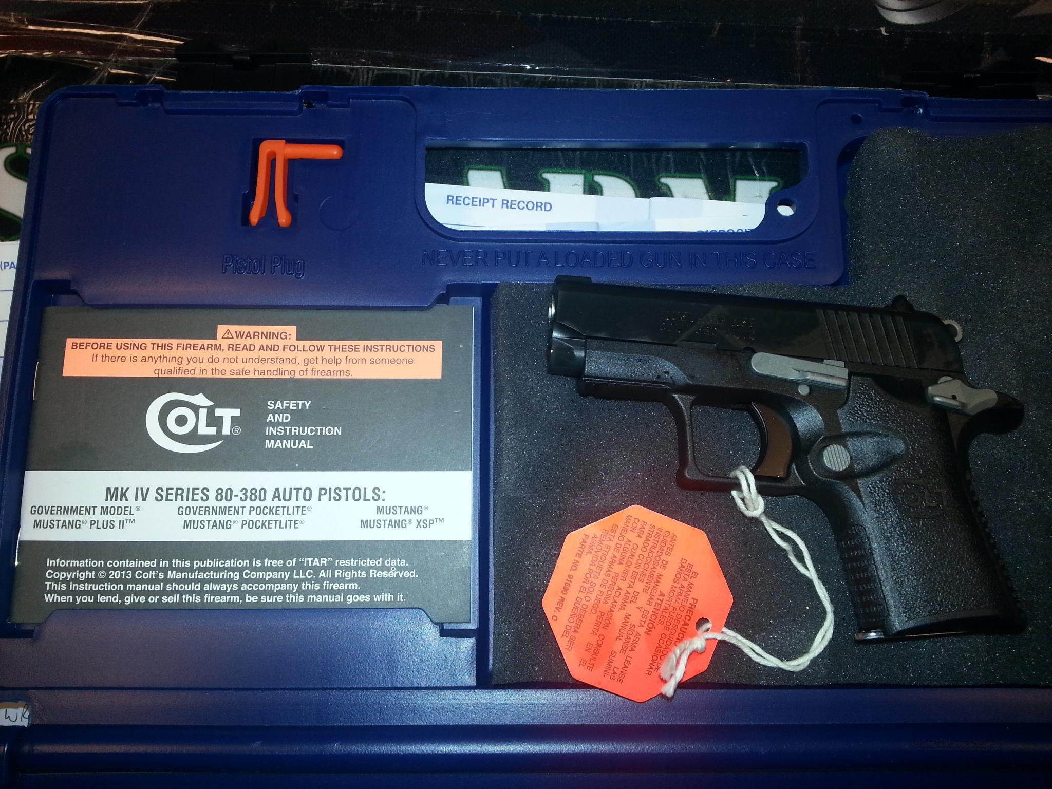 Colt Mustang XSP .380ACP  Guns > Pistols > Colt Automatic Pistols (1911 & Var)