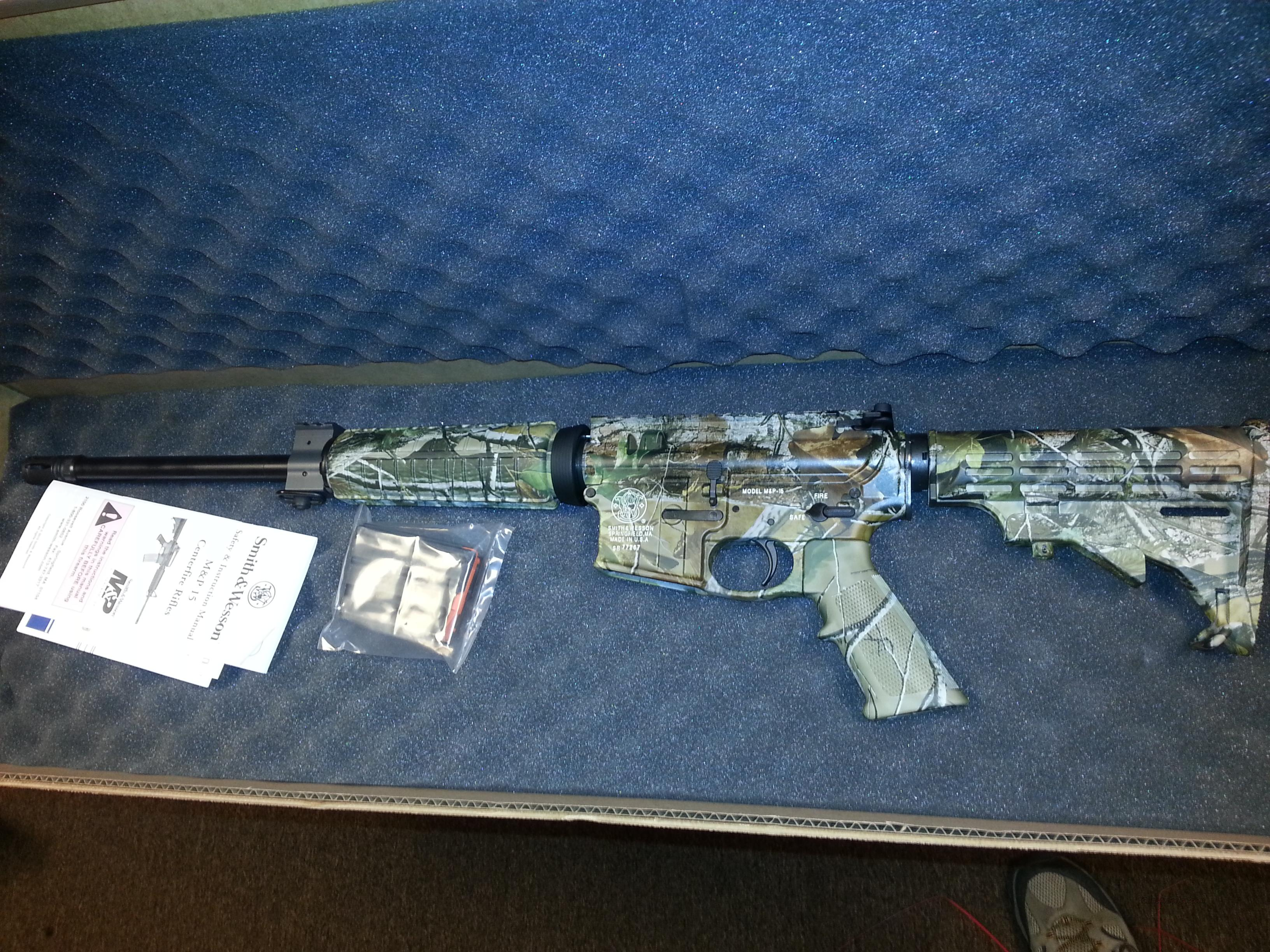 SMITH & WESSON M&P15 300 Whisper/.300 BLACKOUT in Realtree All Purpose camo  Guns > Rifles > Smith & Wesson Rifles > M&P