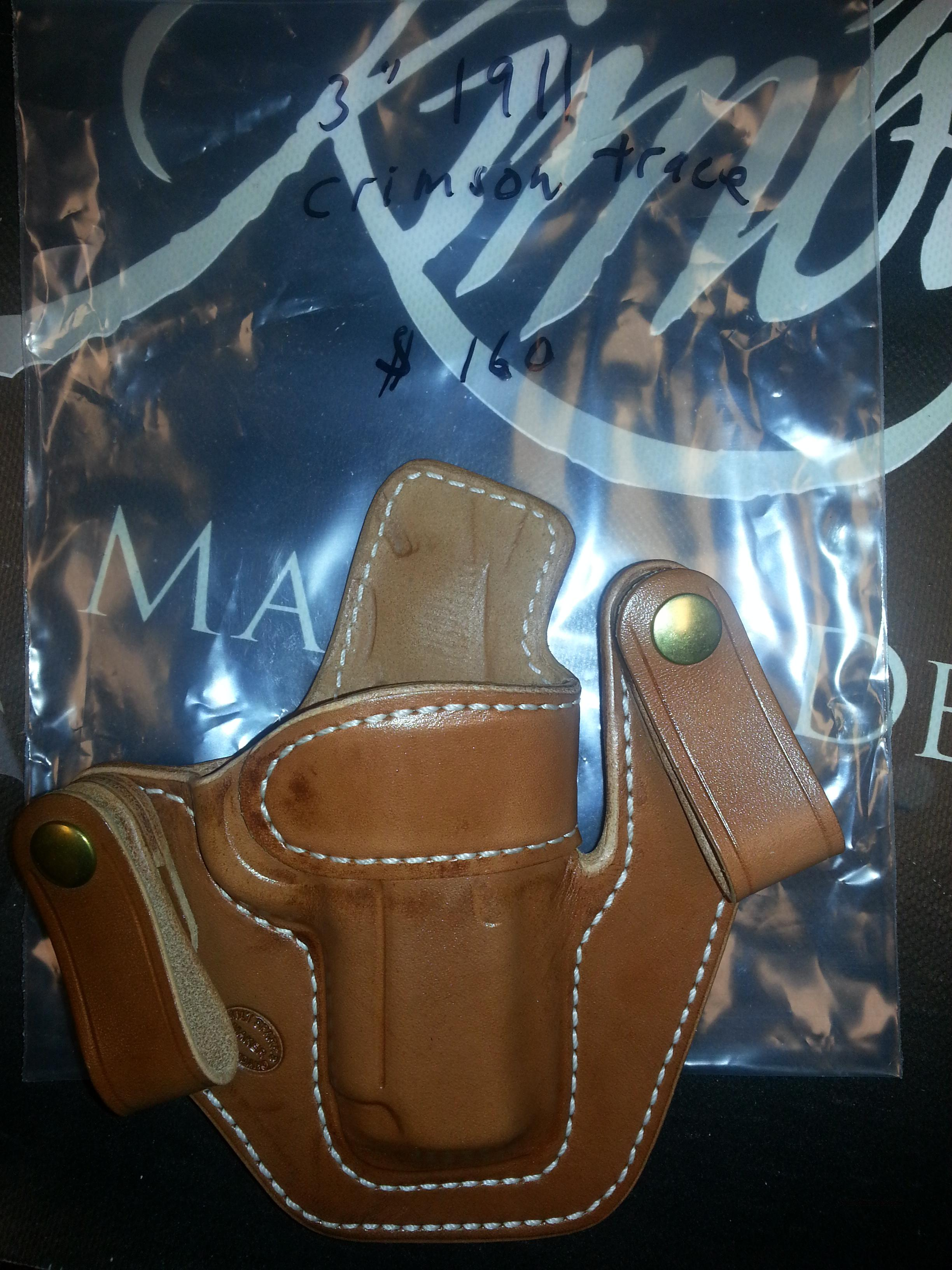 "Milt Sparks Versa Max 2 1911 3""Crimson Trace  Natural Tan  Non-Guns > Holsters and Gunleather > Concealed Carry"